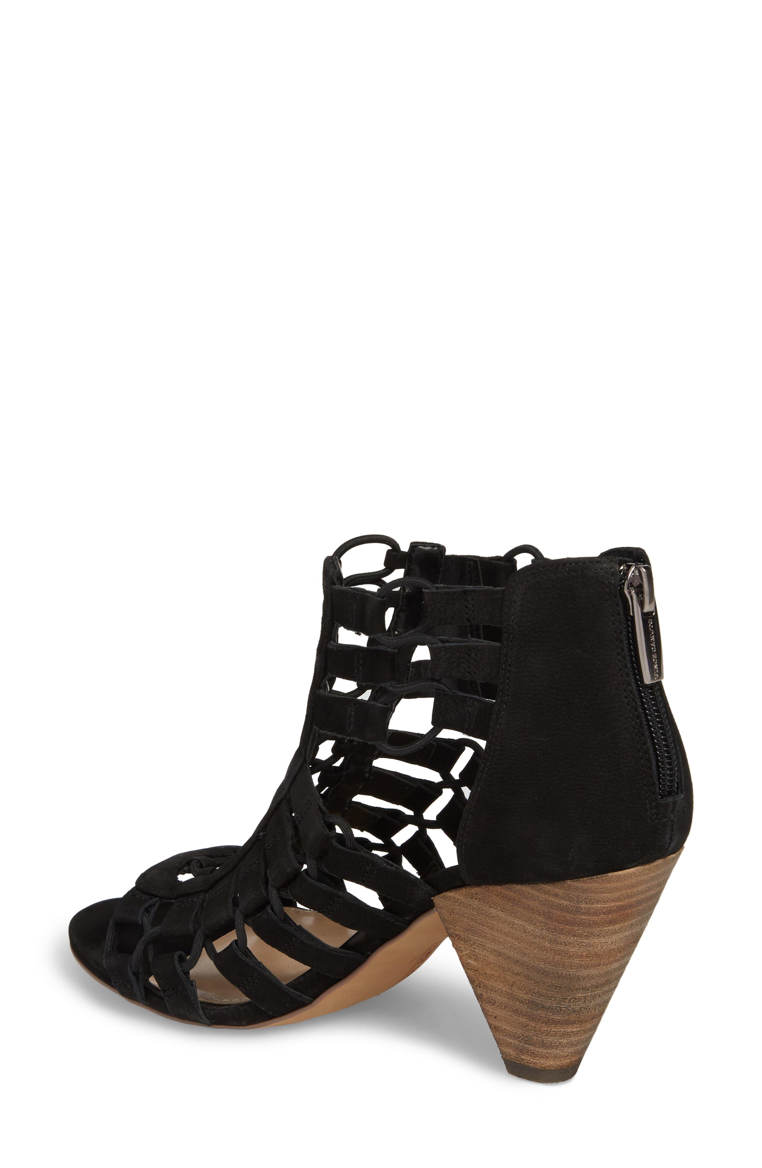 Elanso Sandal,                             Alternate thumbnail 2, color,                             Black Leather