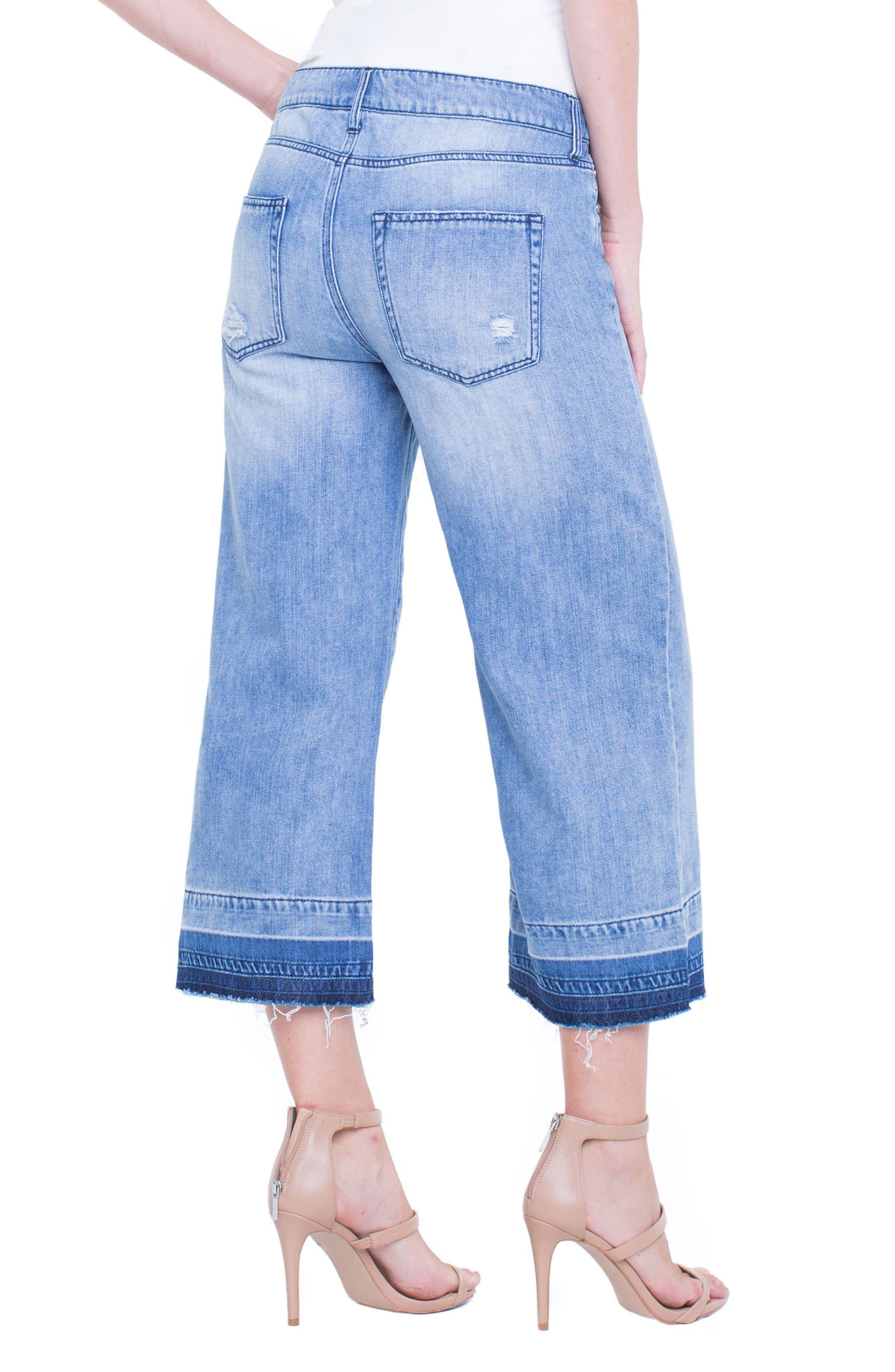Release Hem Wide Crop Jeans,                             Alternate thumbnail 5, color,                             Denmark Grind