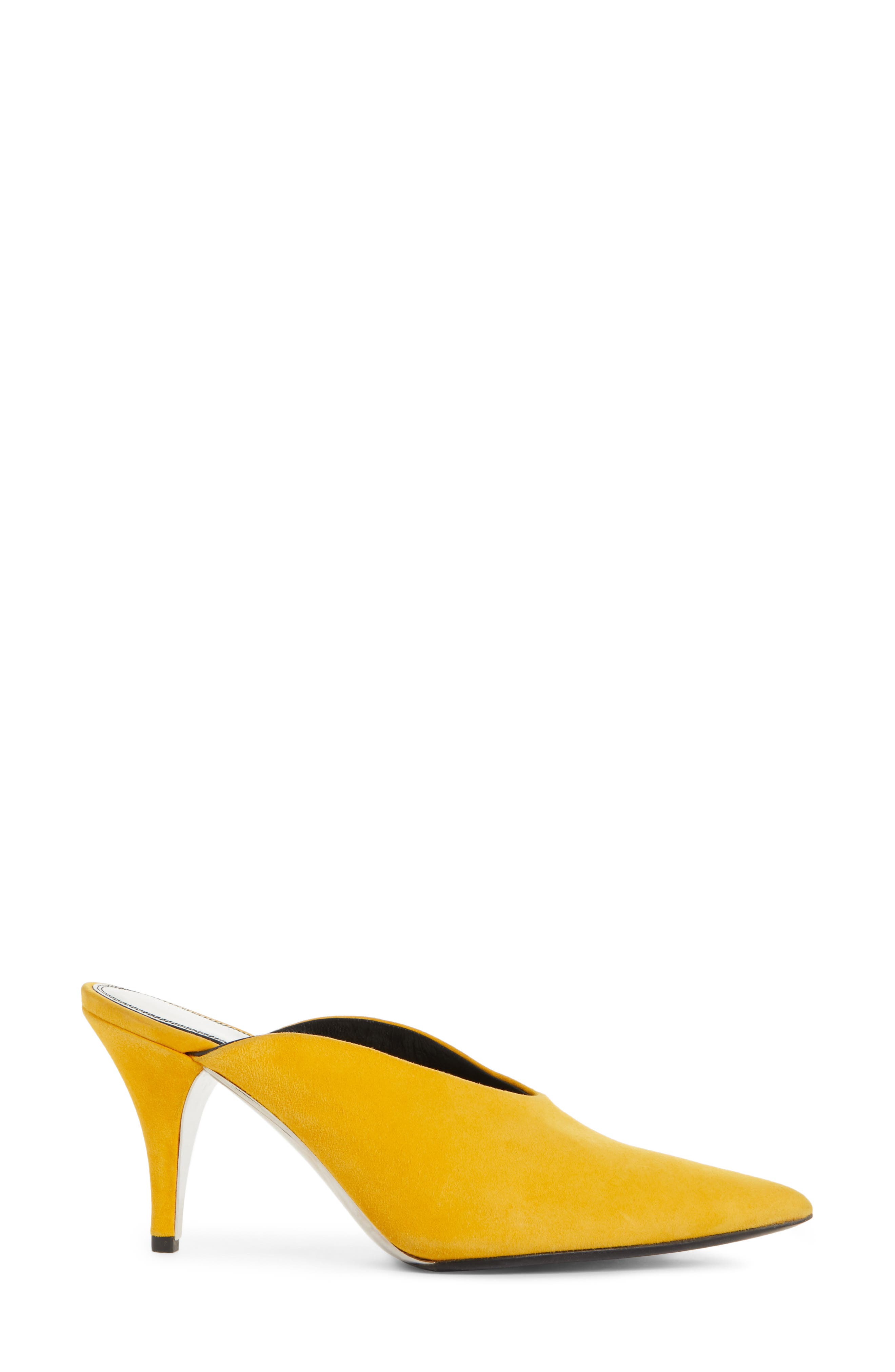 Roslynn Pointy Toe Mule,                             Alternate thumbnail 3, color,                             Sun Yellow