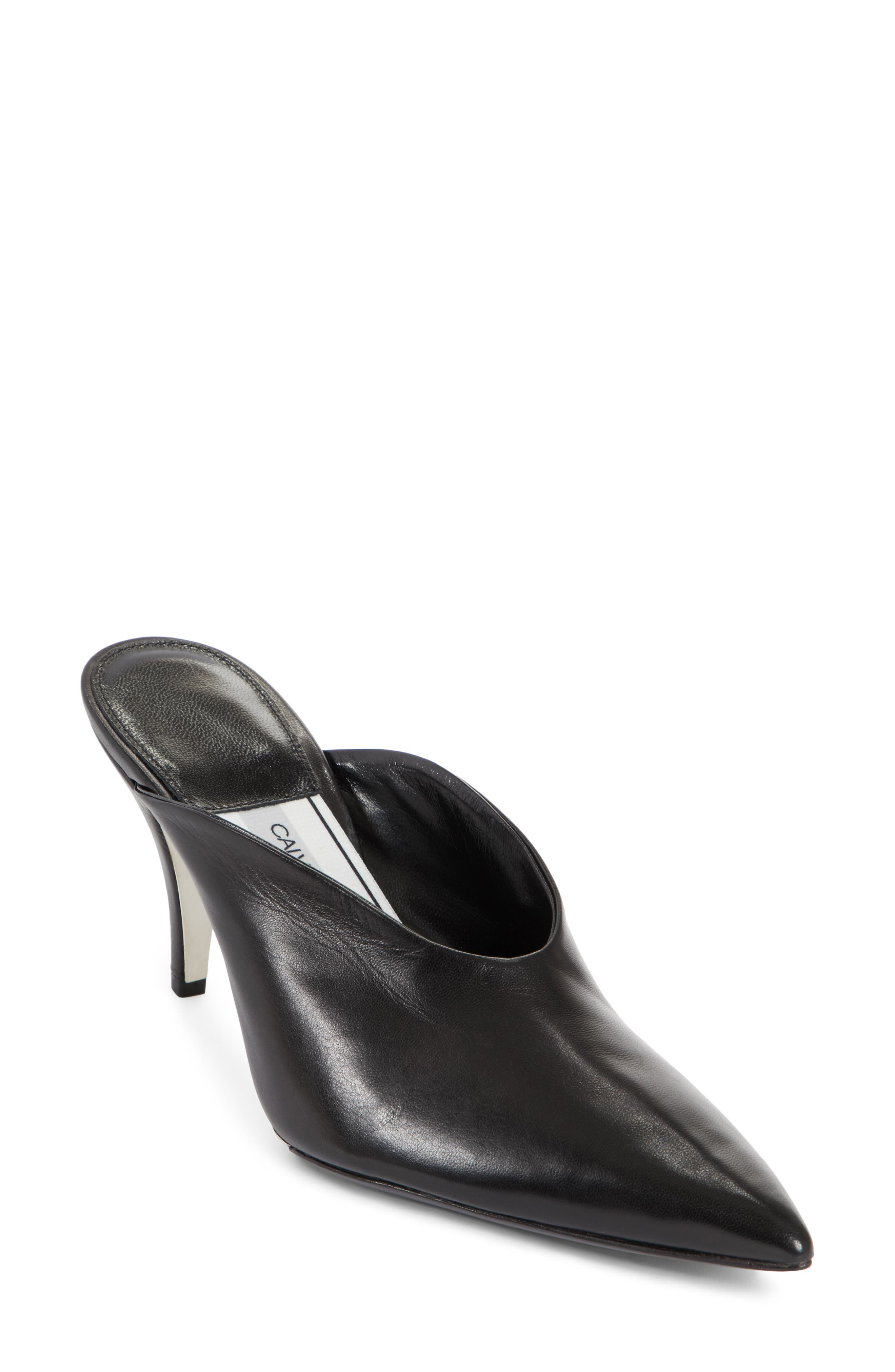 Roslynn Pointy Toe Mule,                             Main thumbnail 1, color,                             Black