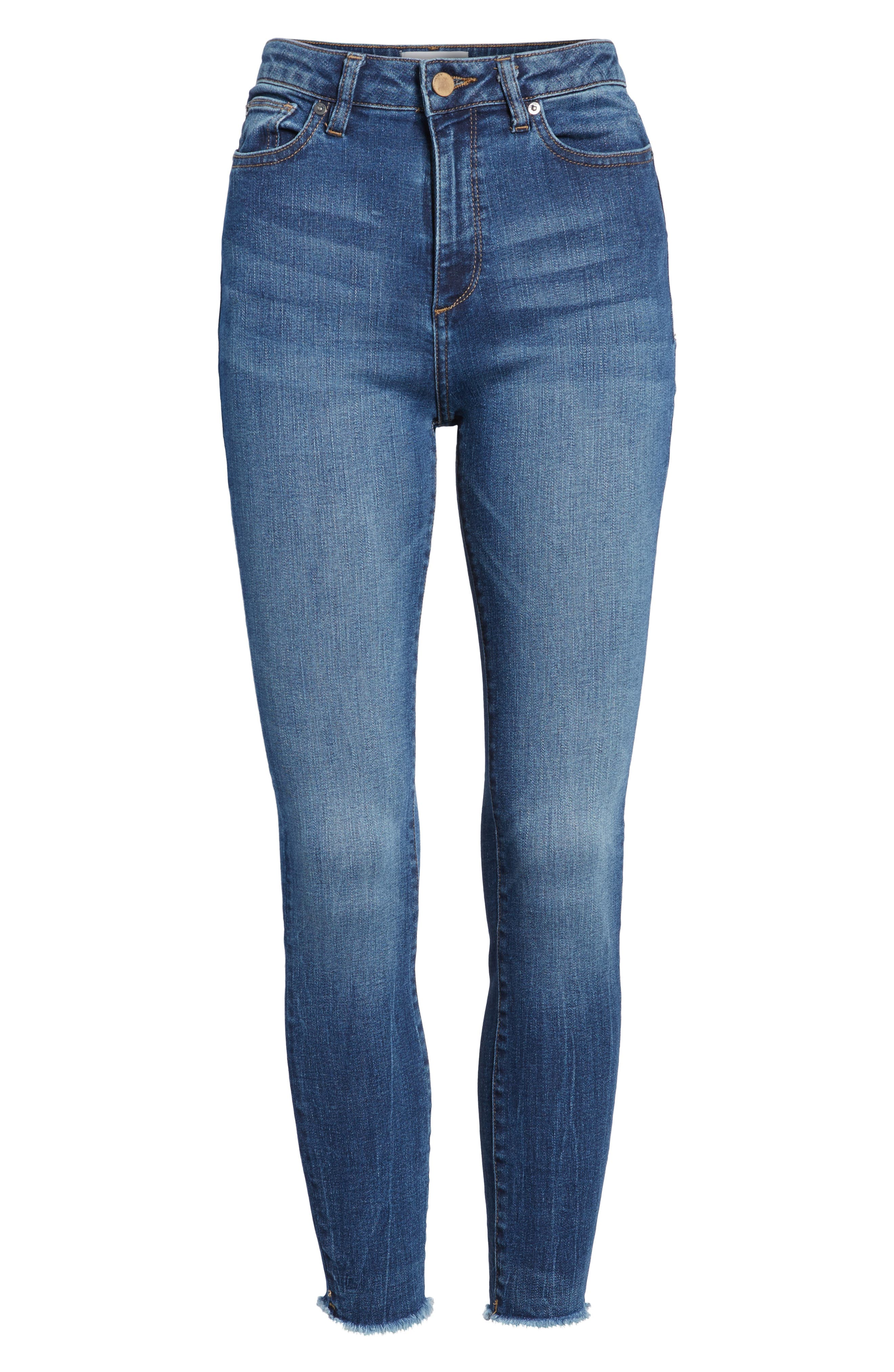 Chrissy Trimtone High Waist Skinny Jeans,                             Alternate thumbnail 6, color,                             Bal Harbour