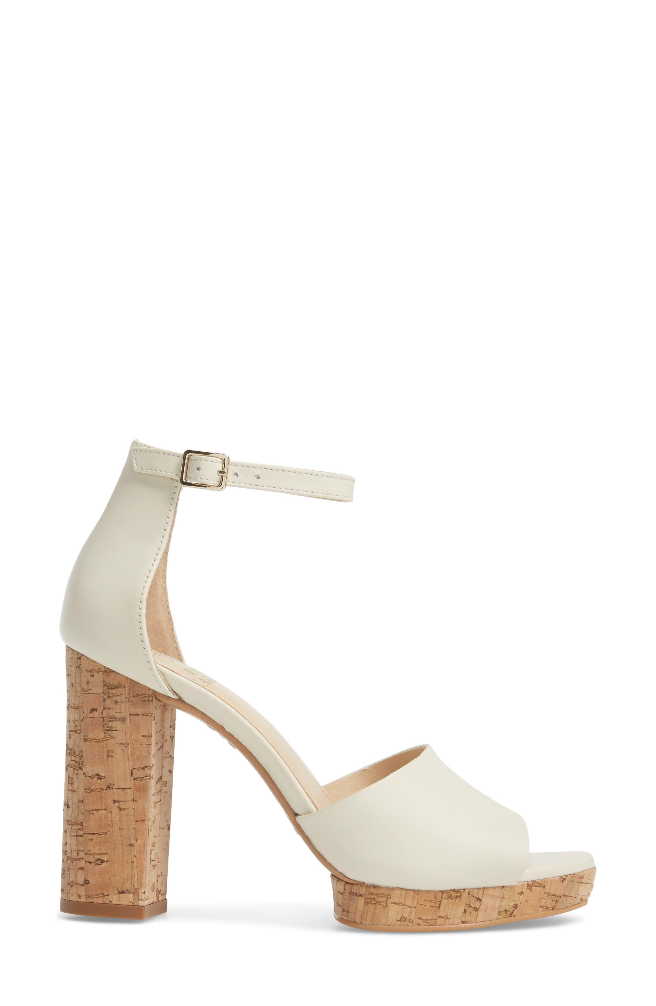 Ciestie Platform Sandal,                             Alternate thumbnail 3, color,                             Vanilla Leather