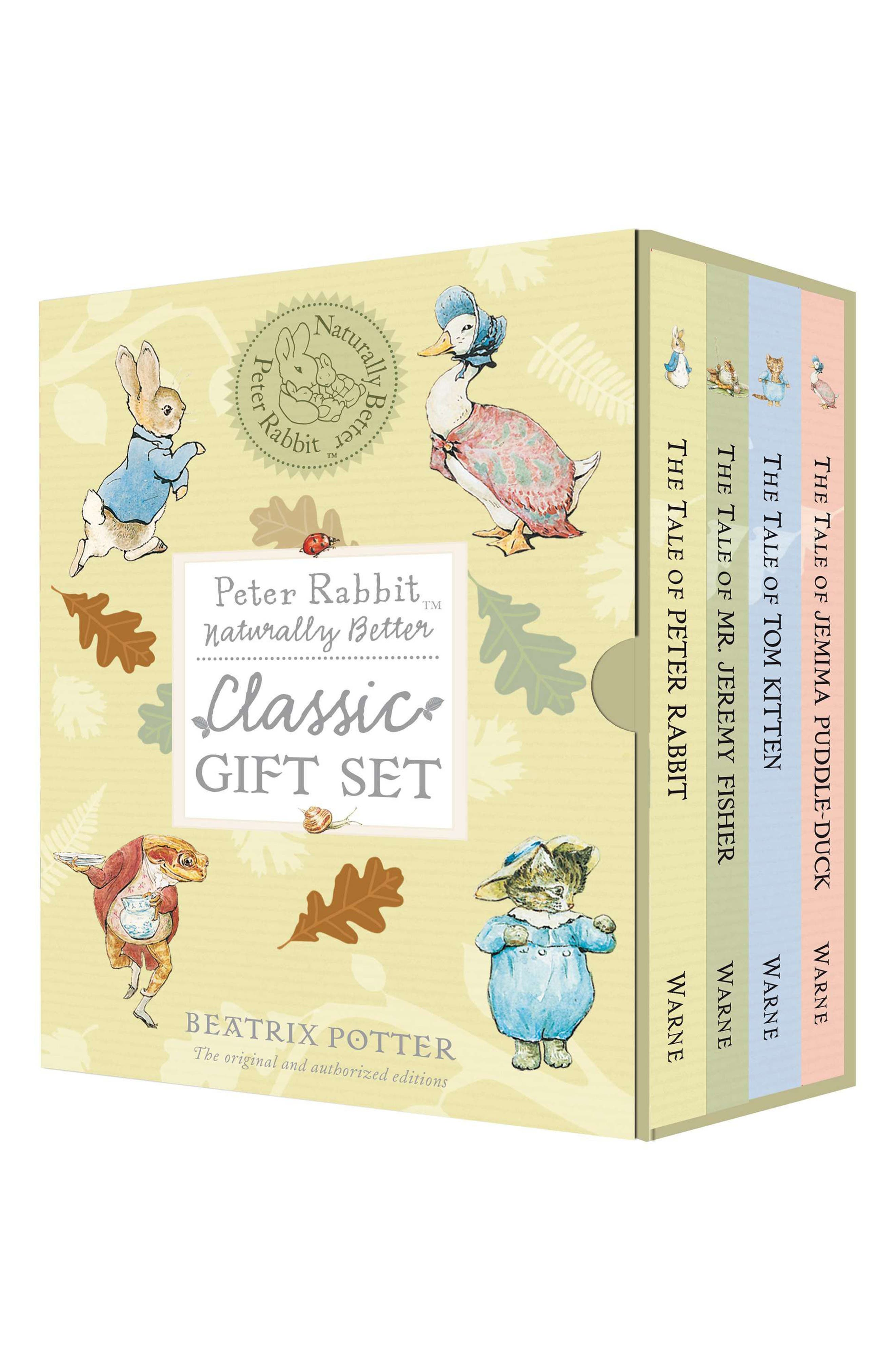 'Peter Rabbit: Naturally Better' Classic Book Gift Set,                         Main,                         color, Yellow