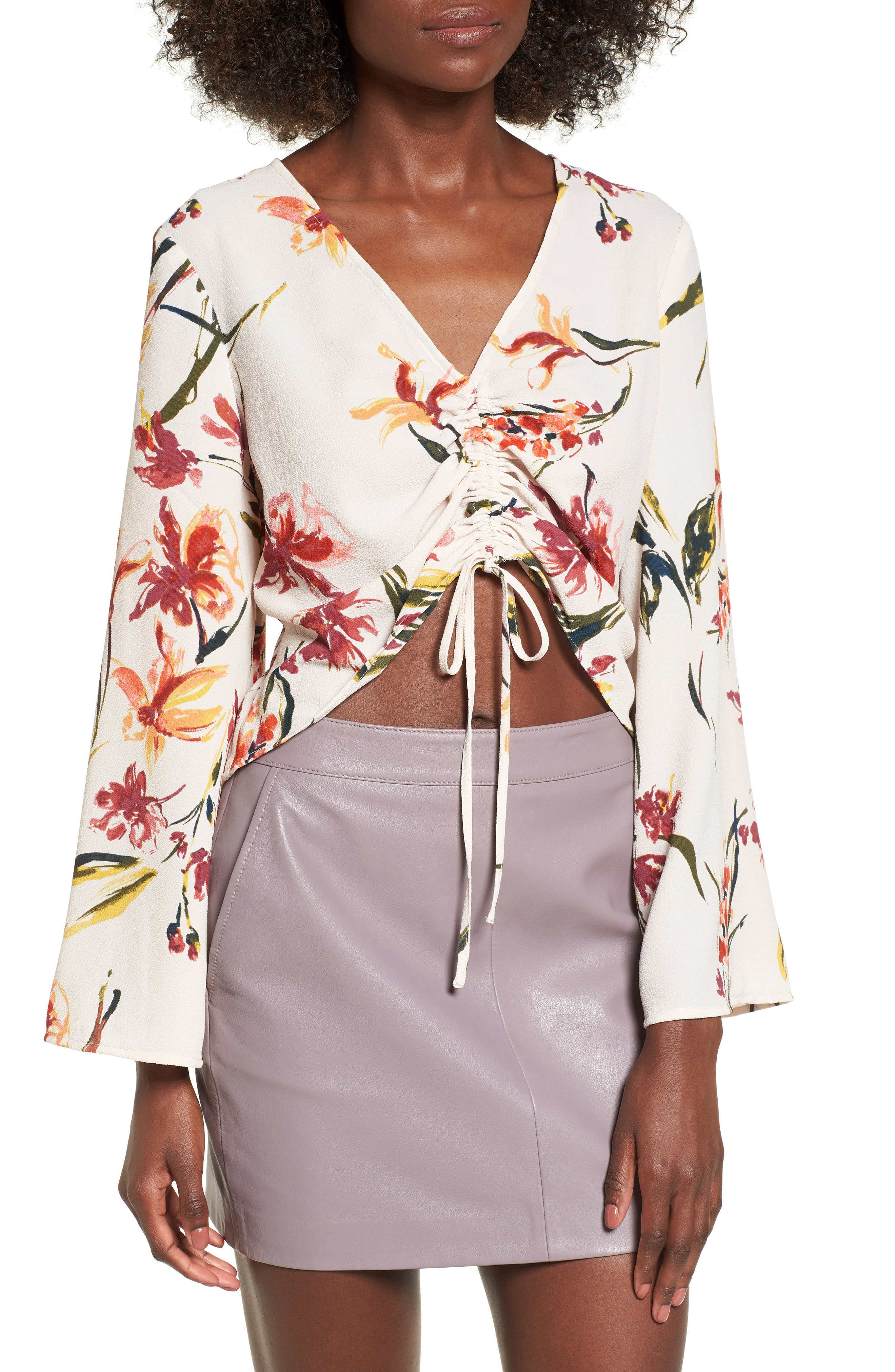 Alternate Image 1 Selected - Leith Ruched Front Top
