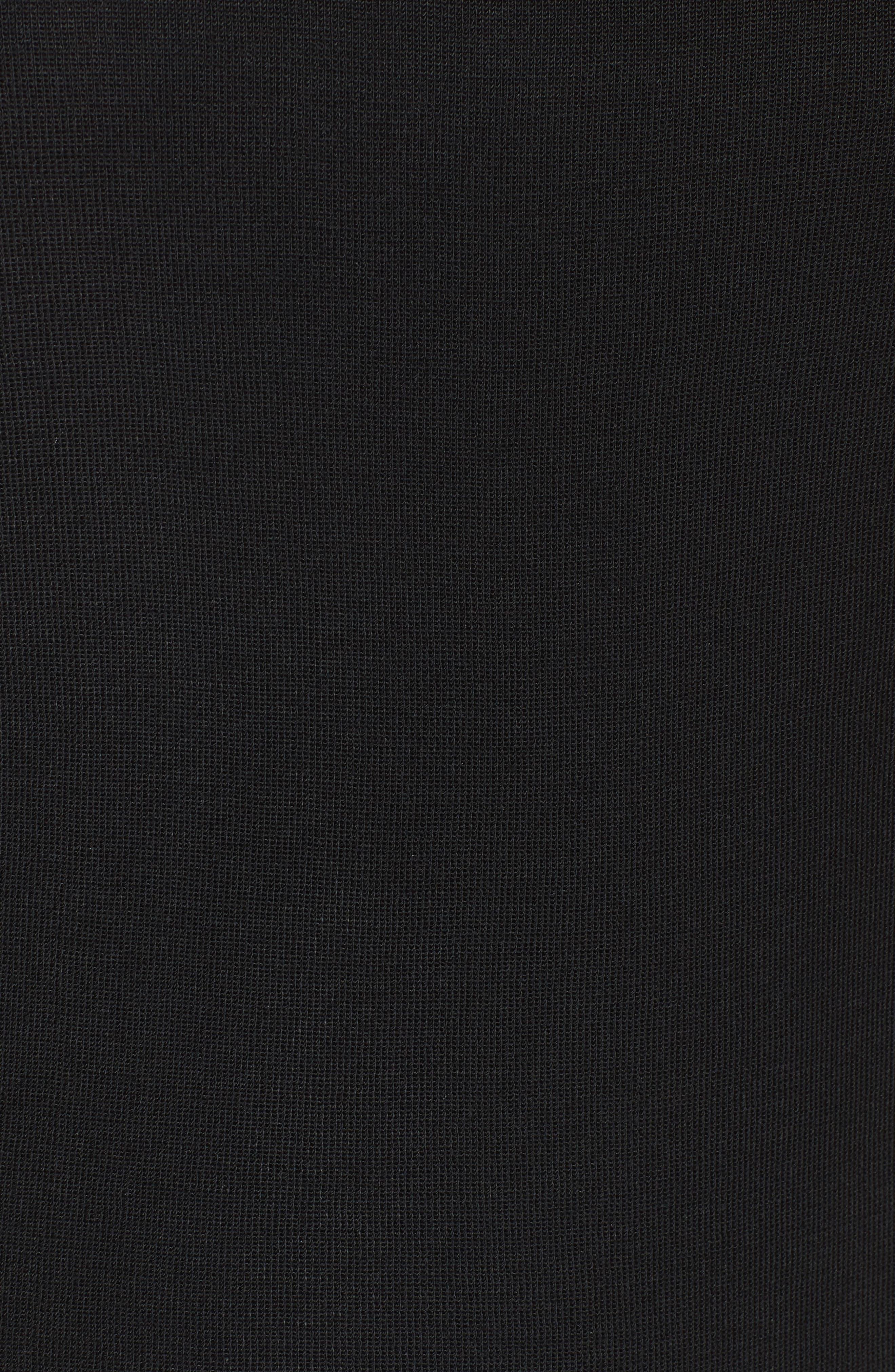 Contrast Scoop Neck Knit Tank,                             Alternate thumbnail 5, color,                             Black/ Pink Lemonade