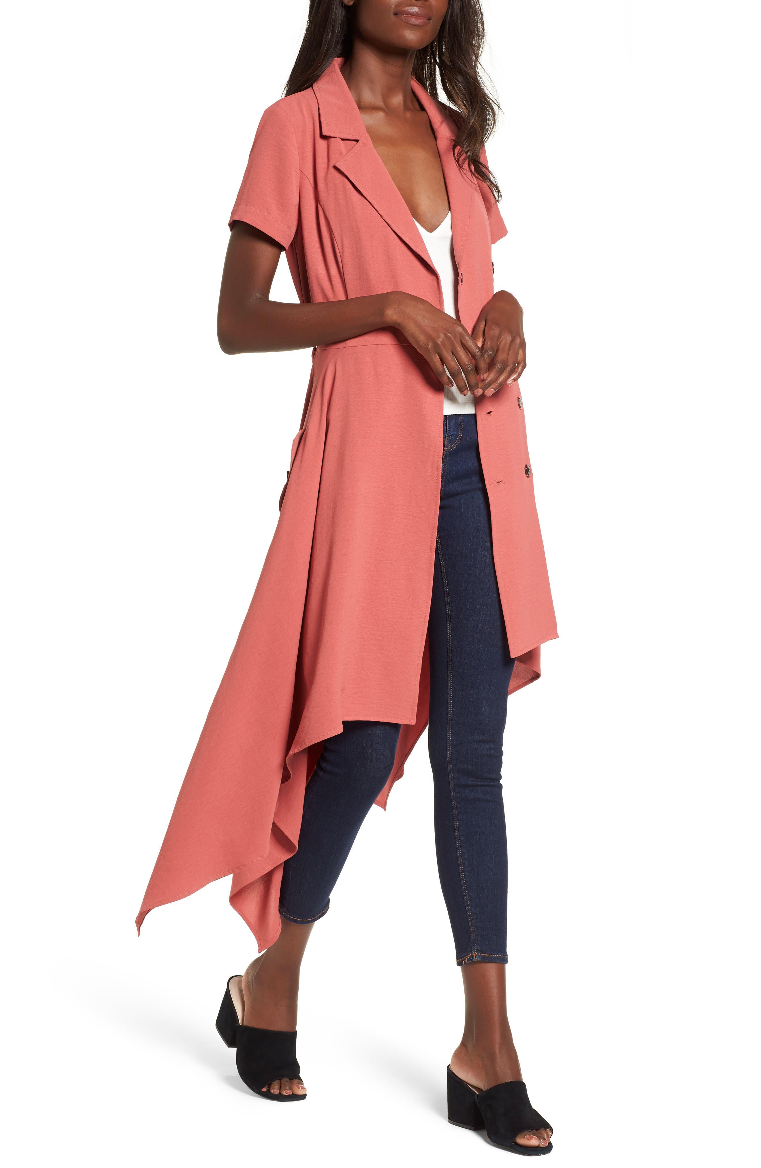 Chriselle x J.O.A. Asymmetrical Trench Dress,                             Alternate thumbnail 3, color,                             Patina