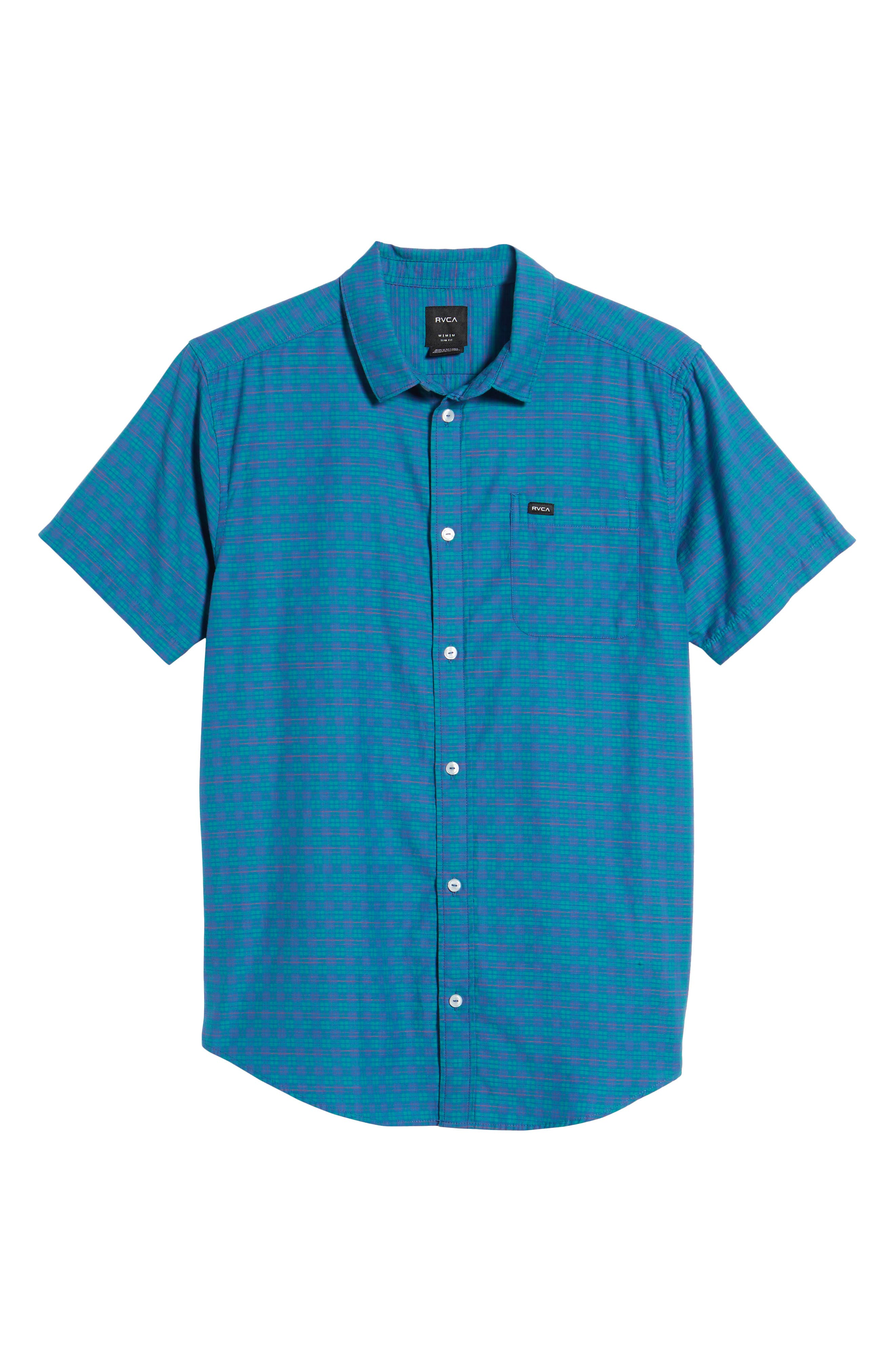 Delivery Woven Shirt,                             Alternate thumbnail 6, color,                             Cobalt