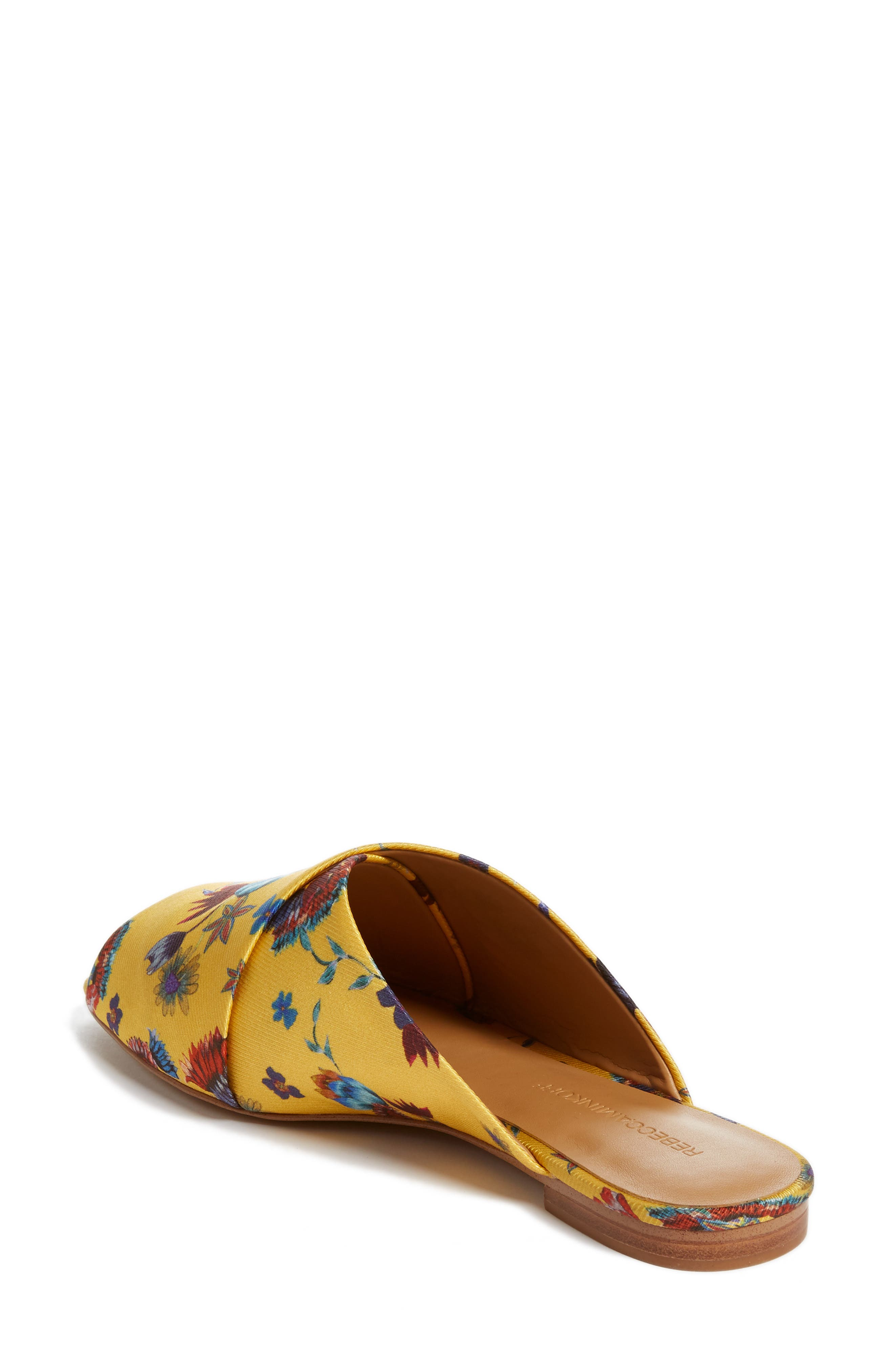 Anden Slide Sandal,                             Alternate thumbnail 2, color,                             Butterscotch Multi Print Silk