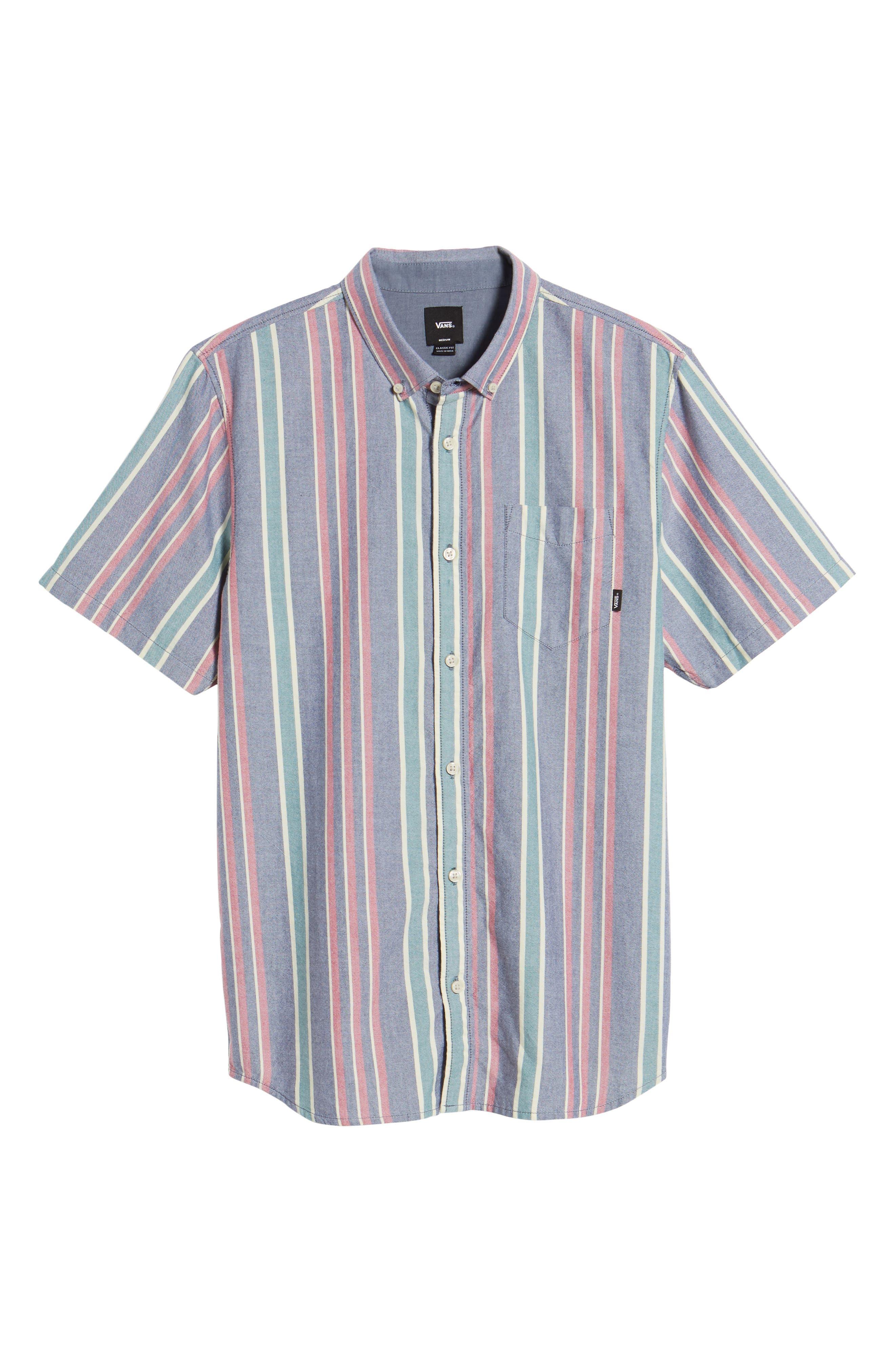 Houser Short Sleeve Shirt,                             Alternate thumbnail 6, color,                             Dress Blues/ Evergreen