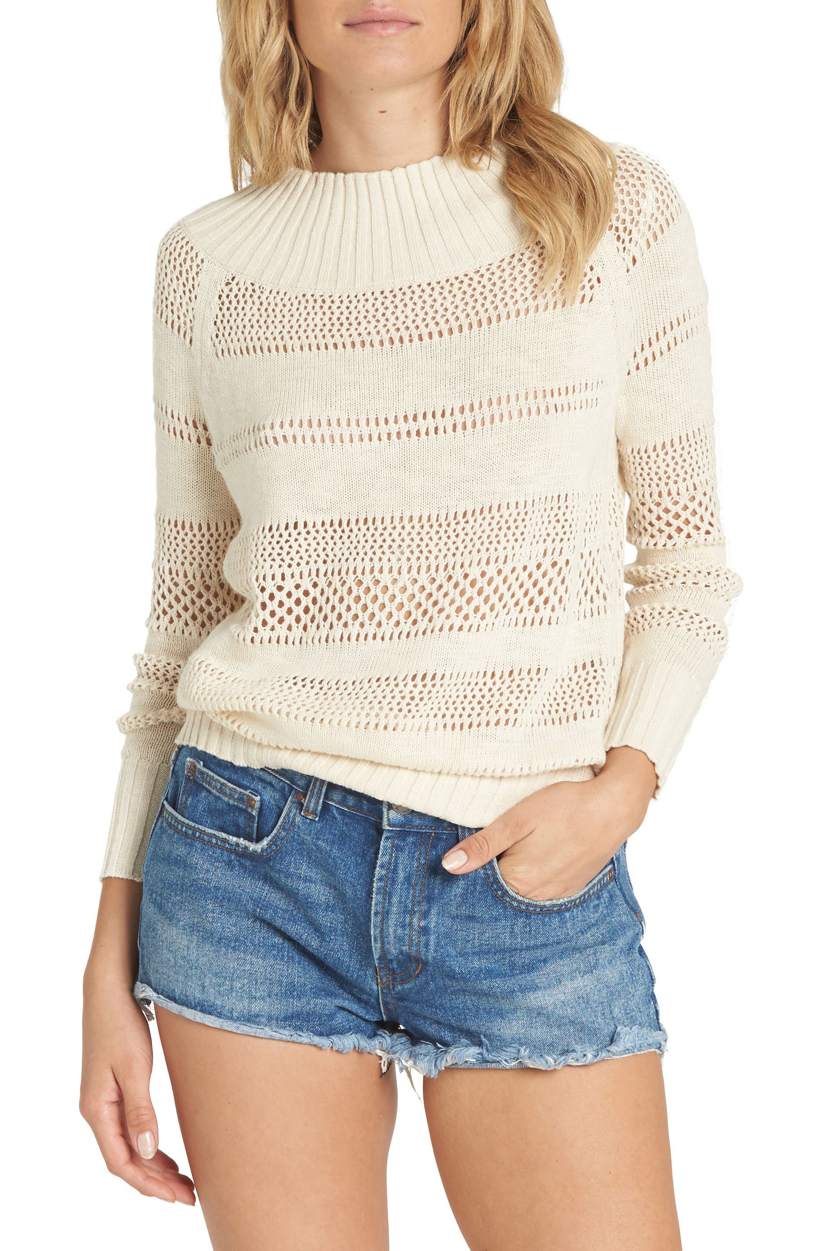 Billabong Snuggle Down Off the Shoulder Sweater