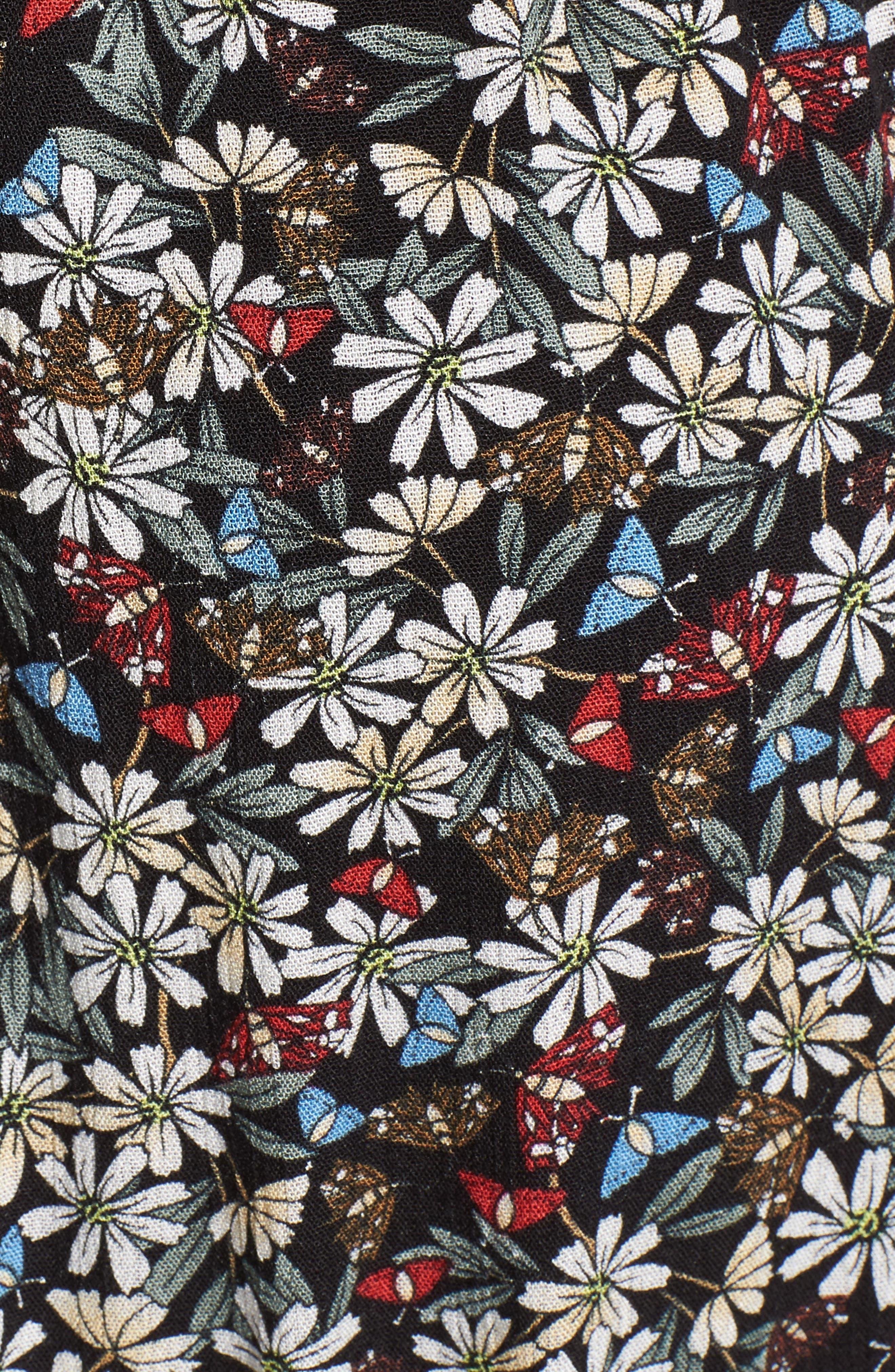 Flora Halter Neck Maxi Dress,                             Alternate thumbnail 6, color,                             Multi Black