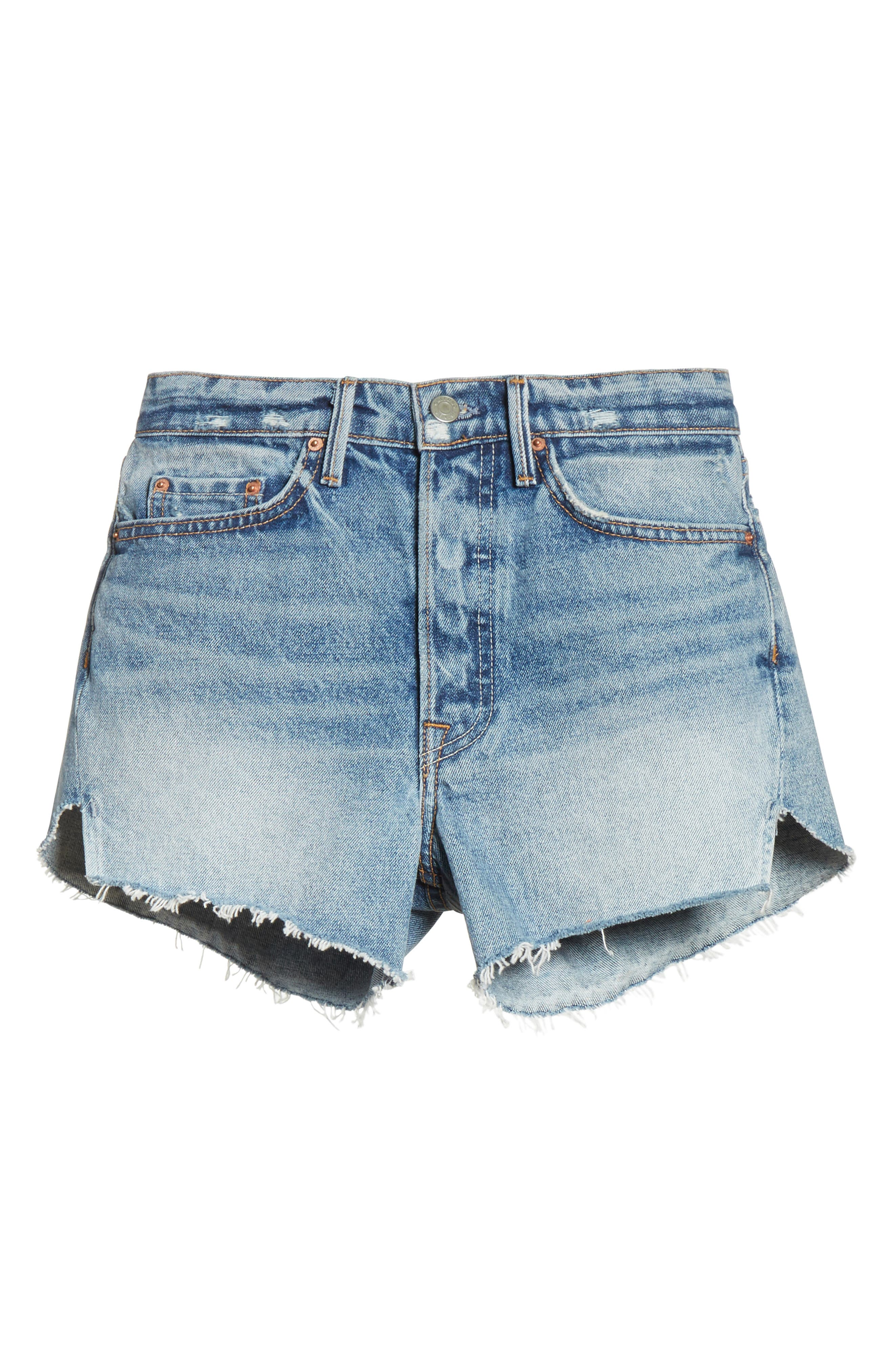 Mardee Denim Shorts,                             Alternate thumbnail 6, color,                             Twisted
