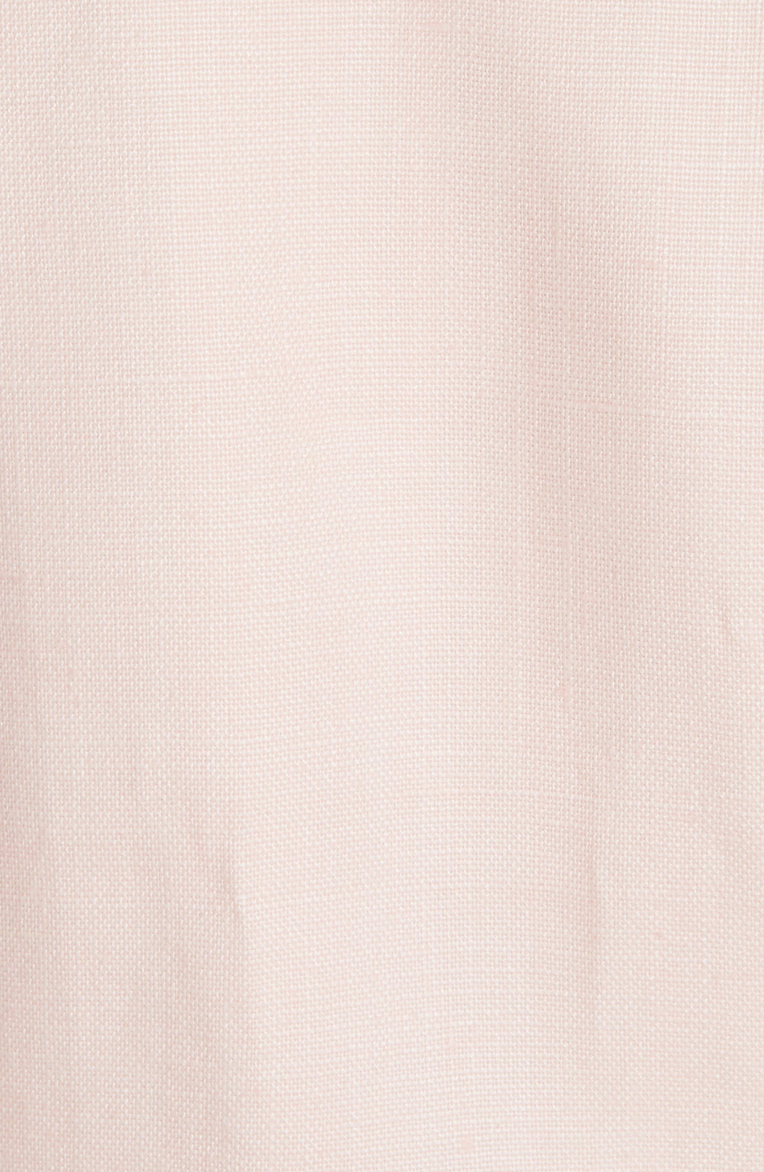 Duchess Linen Blazer,                             Alternate thumbnail 5, color,                             Ballet