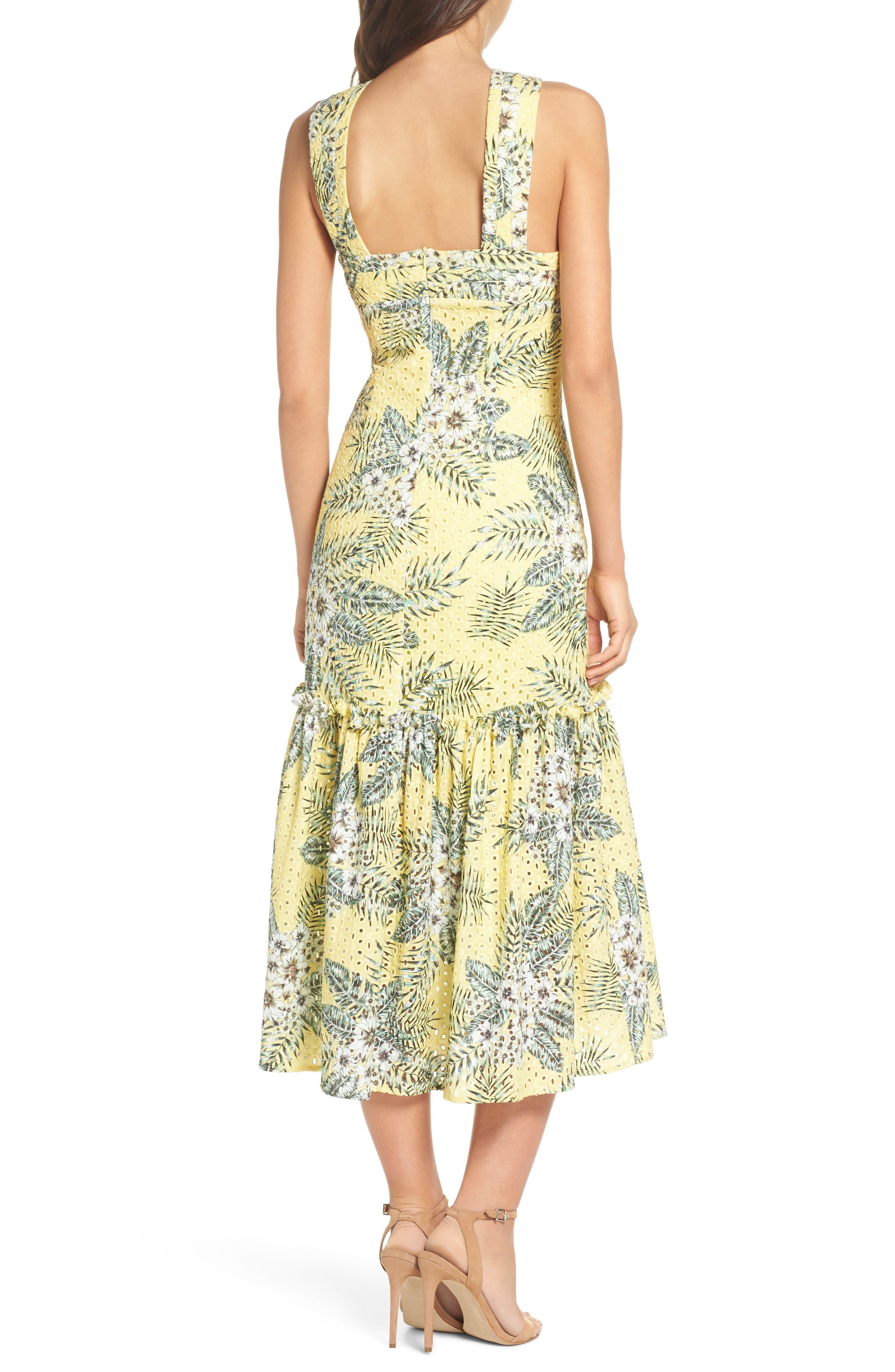 Alternate Image 2  - BB Dakota Sarafina Printed Eyelet Halter Dress