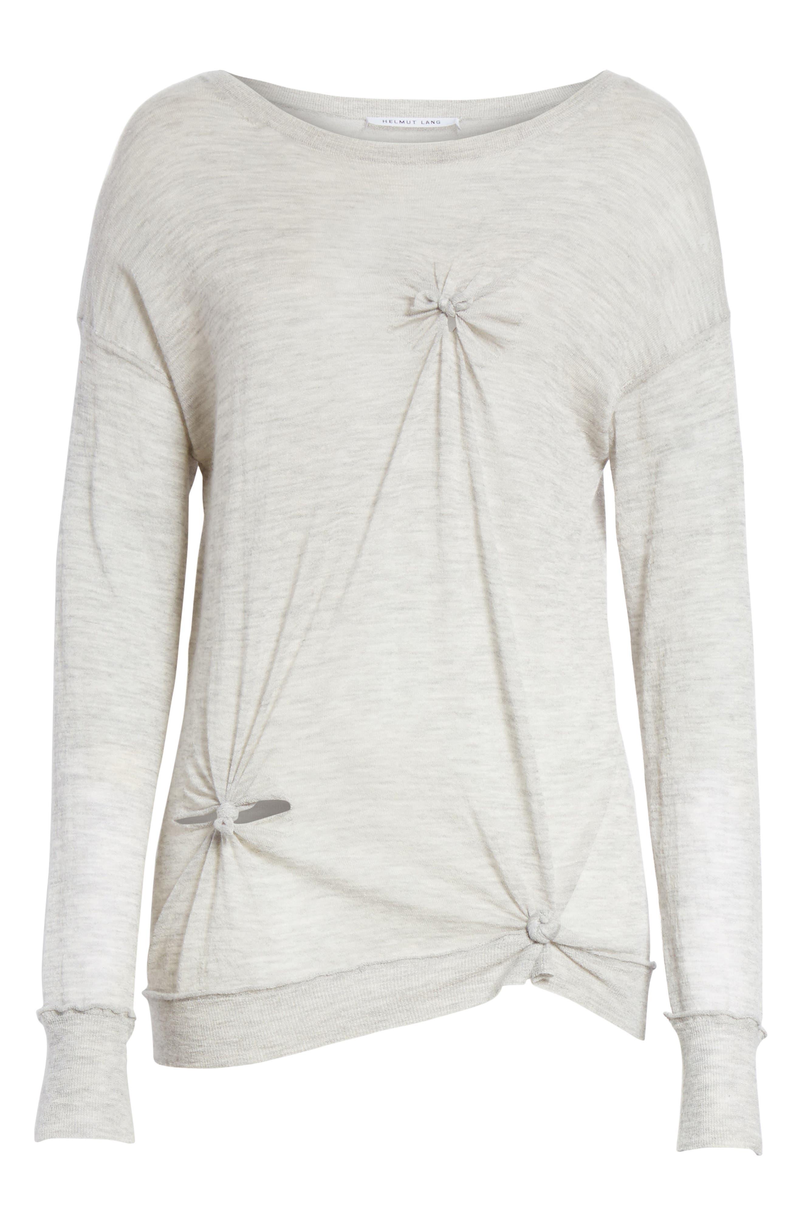 Alternate Image 6  - Helmut Lang Knot Detail Cashmere Sweater