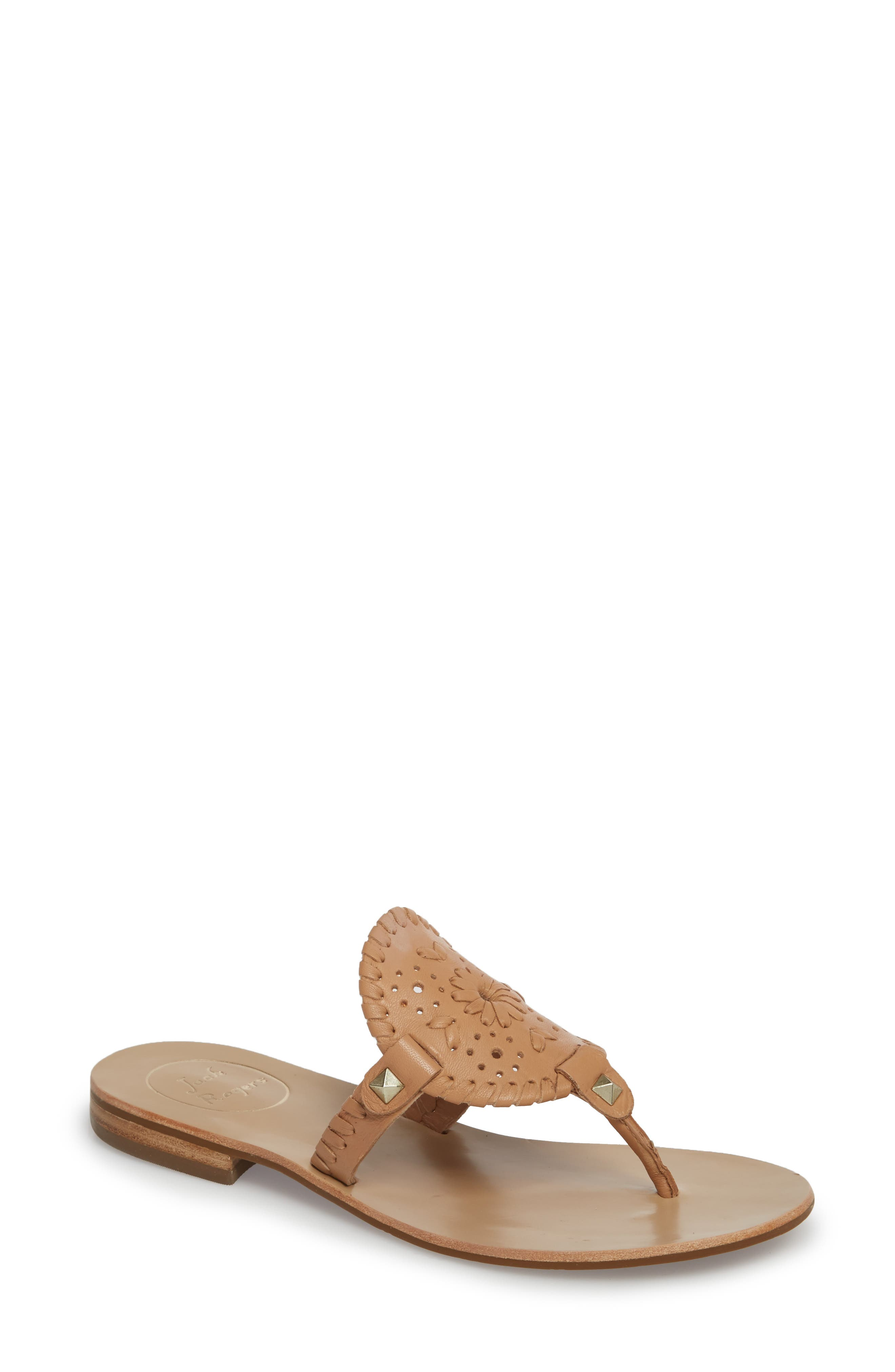 'Georgica' Sandals,                         Main,                         color, Buff Leather