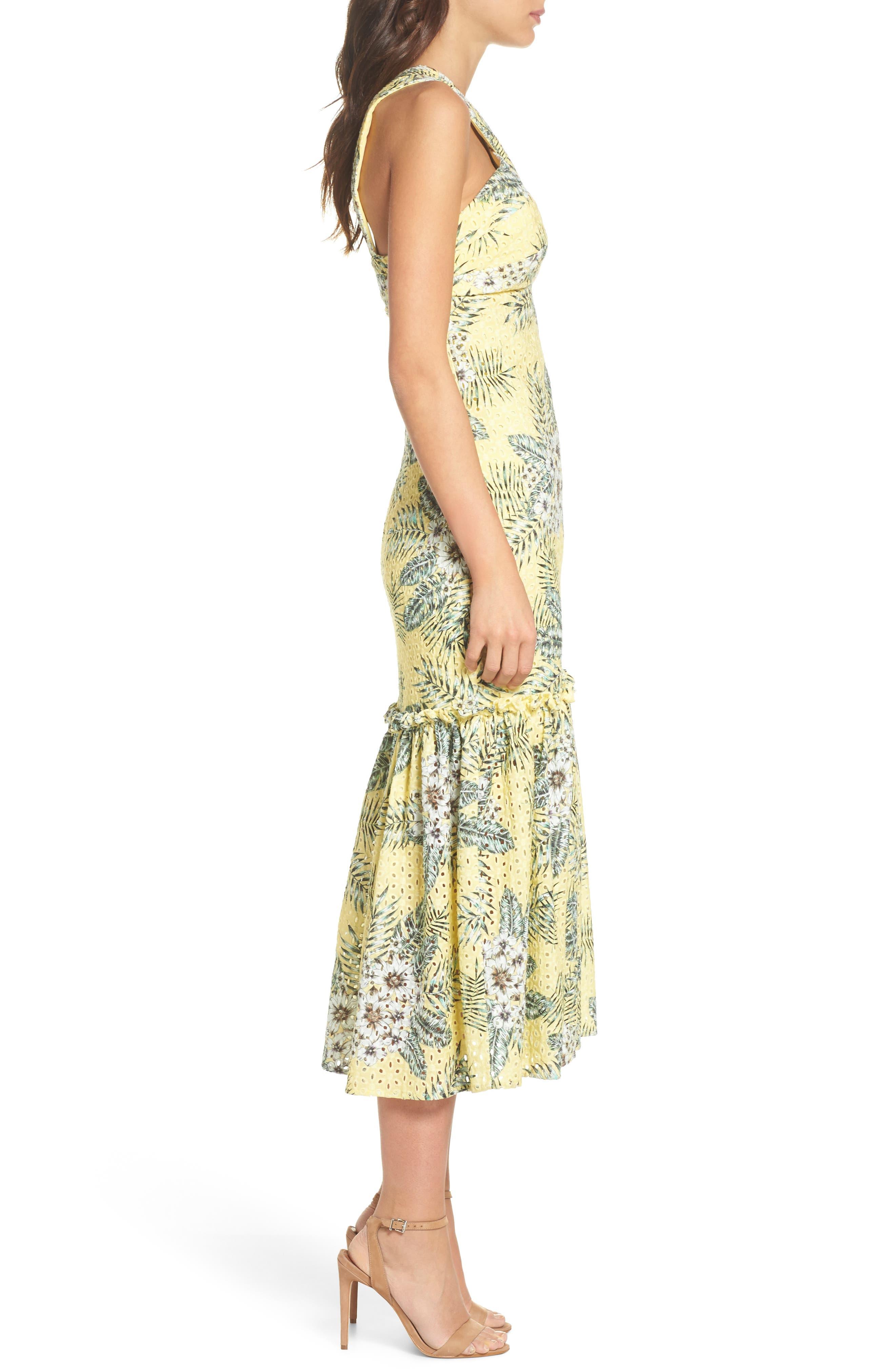 Alternate Image 3  - BB Dakota Sarafina Printed Eyelet Halter Dress