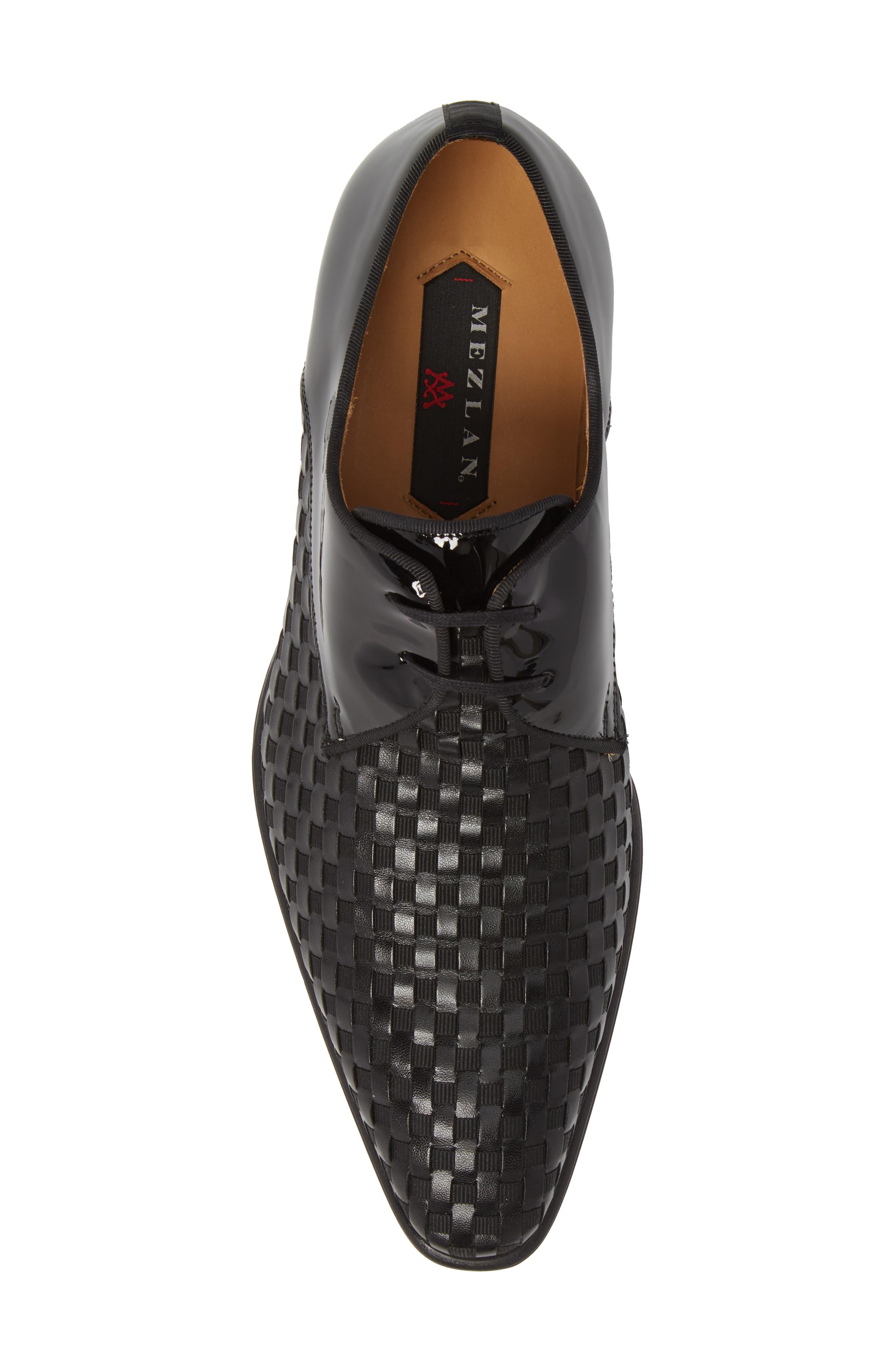 Sexto Plain Toe Derby,                             Alternate thumbnail 5, color,                             Black Leather