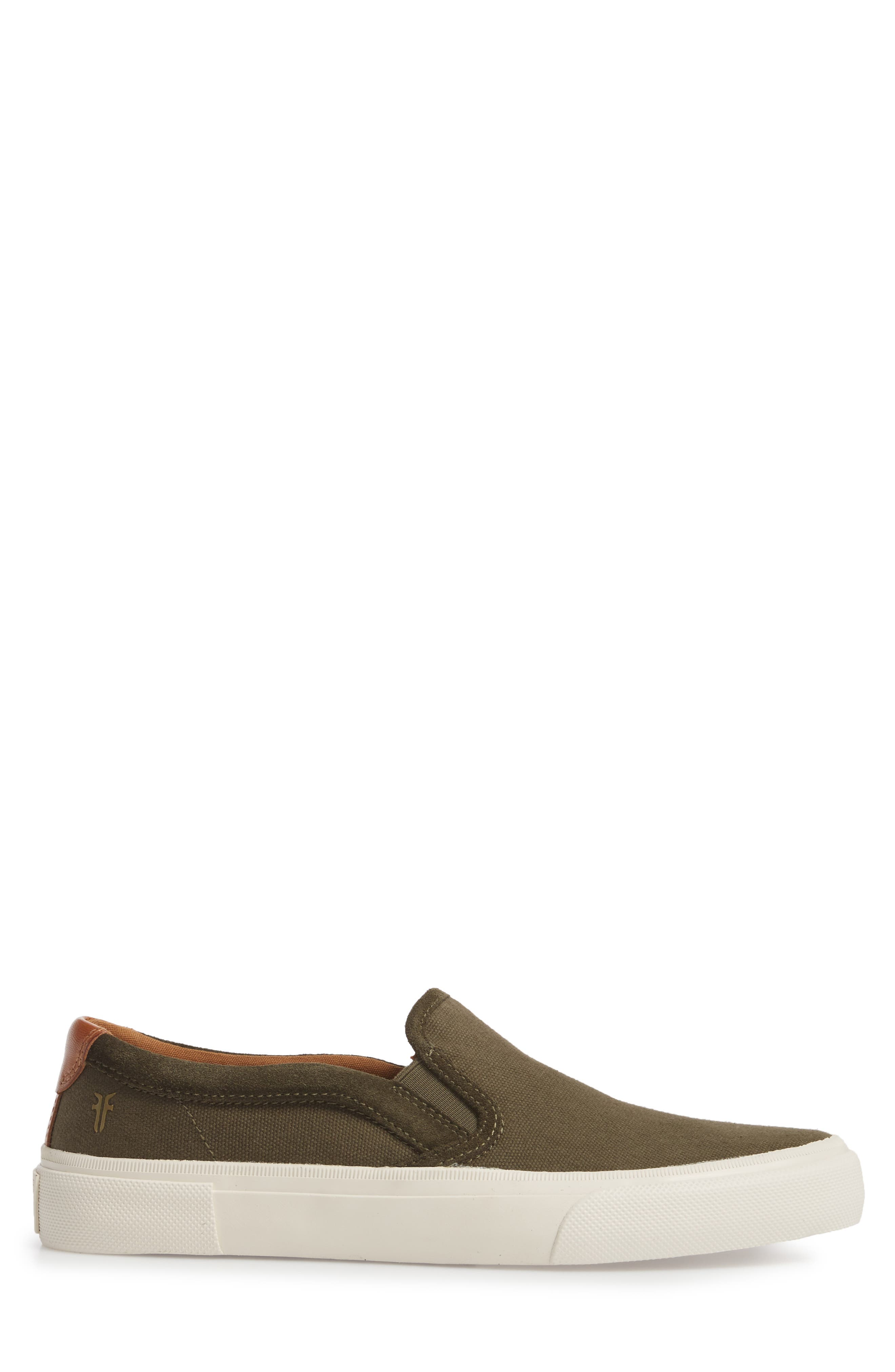Ludlow Slip-On,                             Alternate thumbnail 3, color,                             Olive Canvas