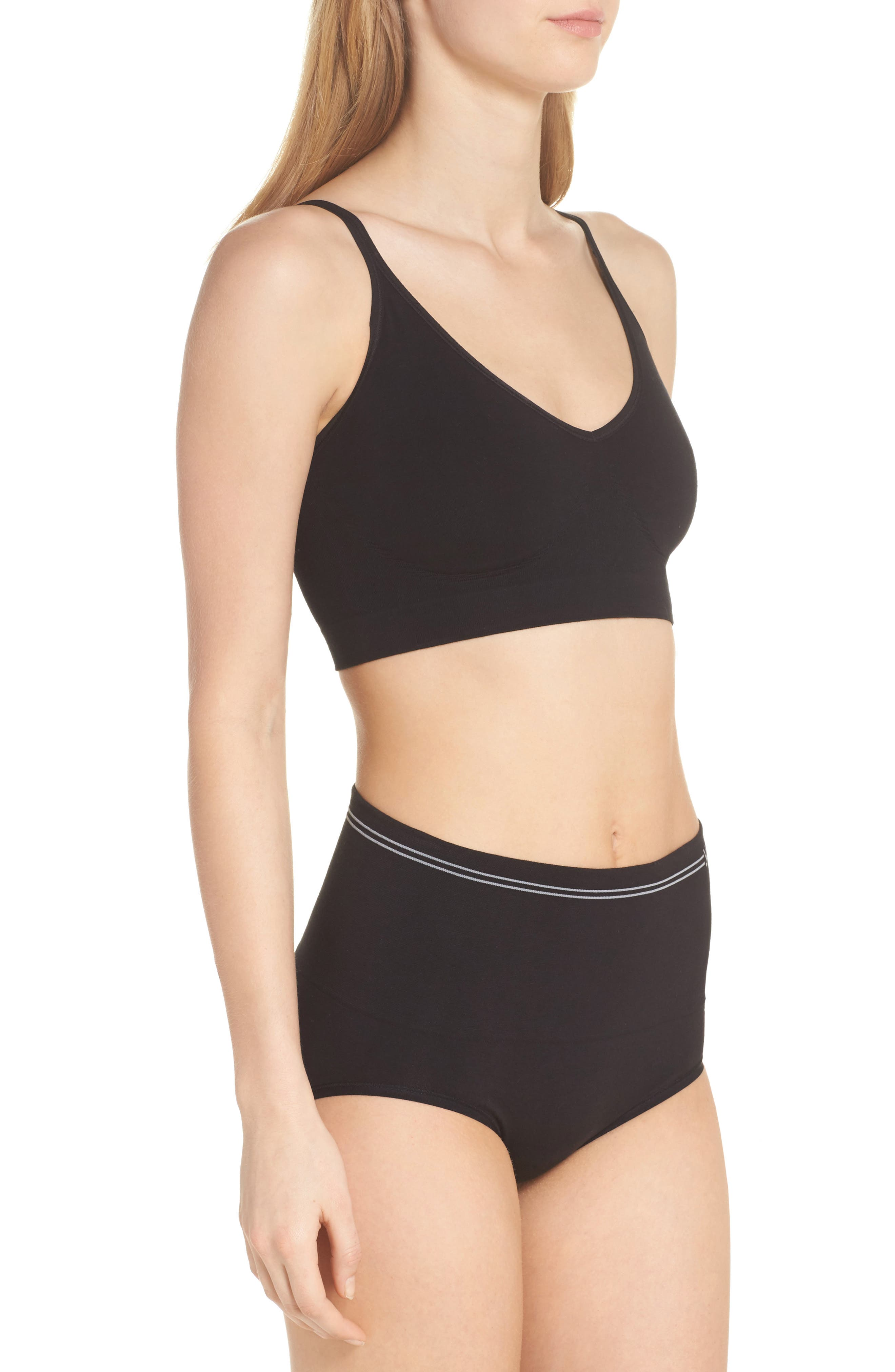 Seamless Shaping Briefs,                             Alternate thumbnail 7, color,                             Black