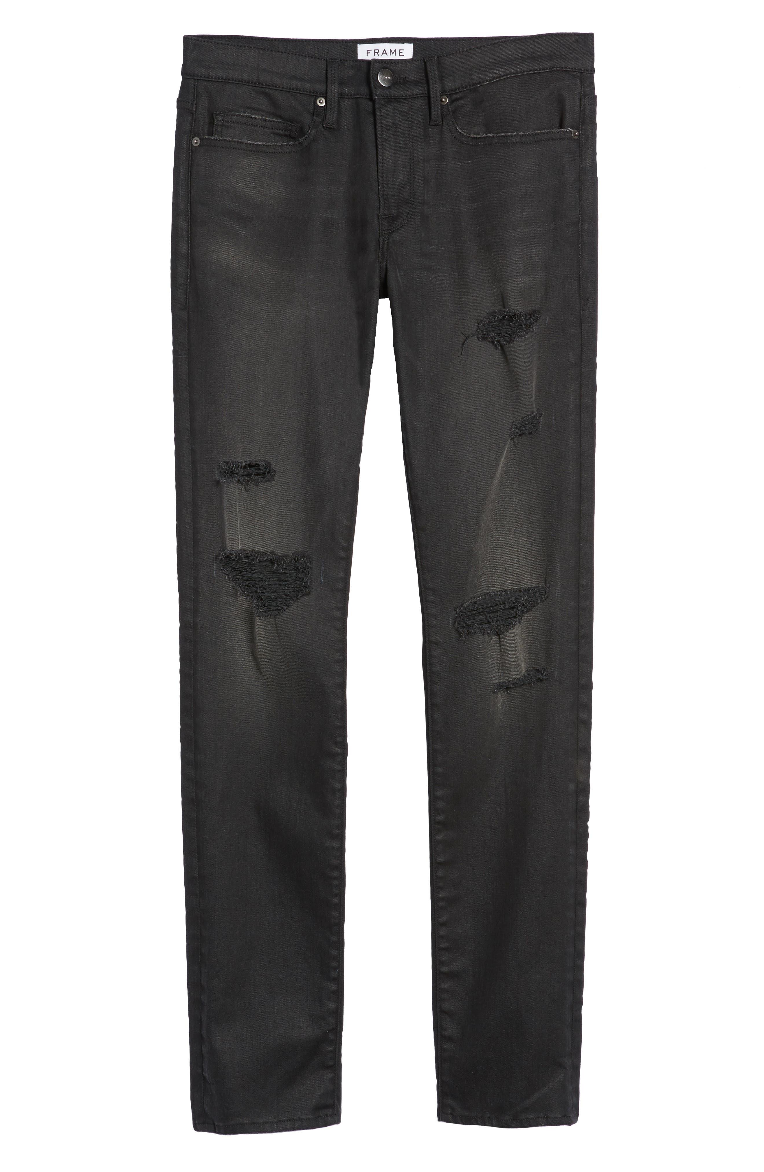 L'Homme Slim Fit Jeans,                             Alternate thumbnail 6, color,                             Flintwood