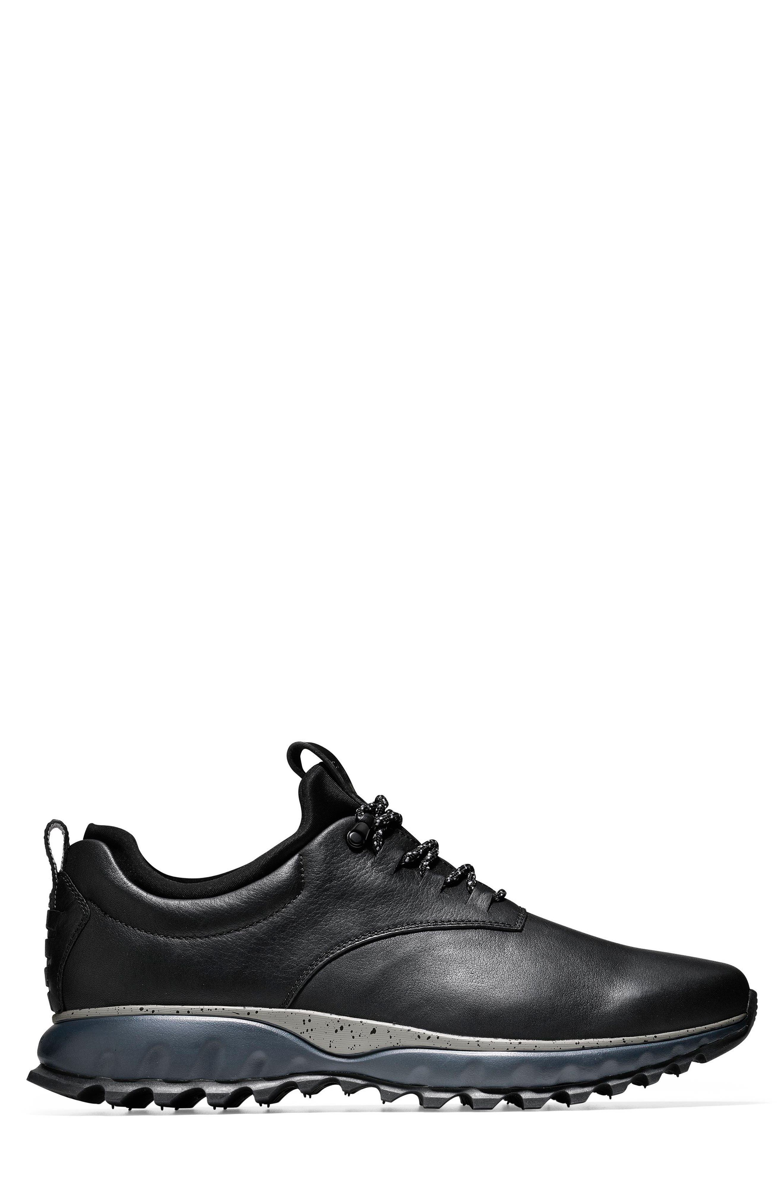 GrandExpløre All Terrain Waterproof Sneaker,                             Alternate thumbnail 3, color,                             Black/ Ironstone Leather
