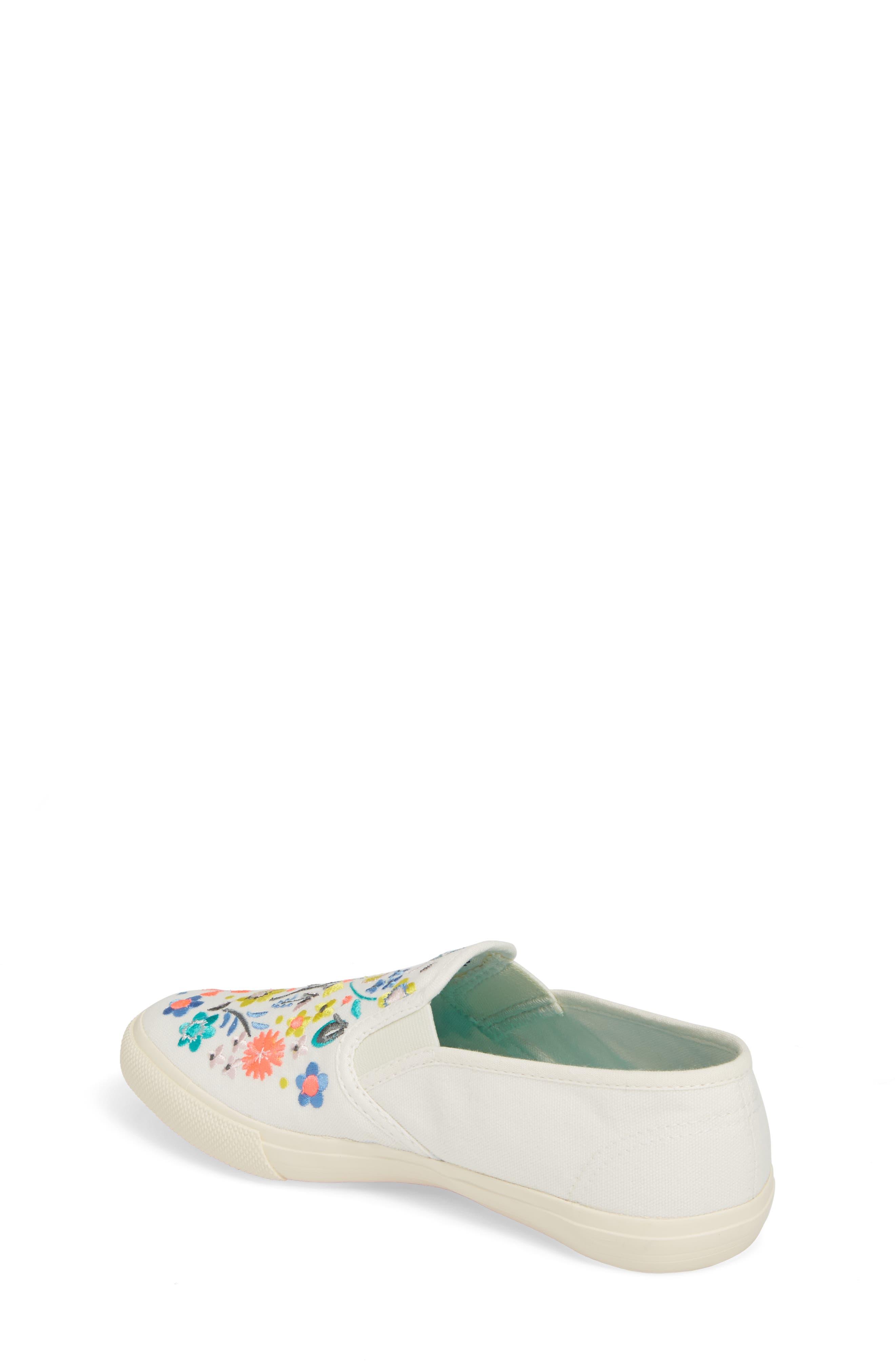 Boden Embroidered Slip-On Sneaker,                             Alternate thumbnail 2, color,                             Ecru