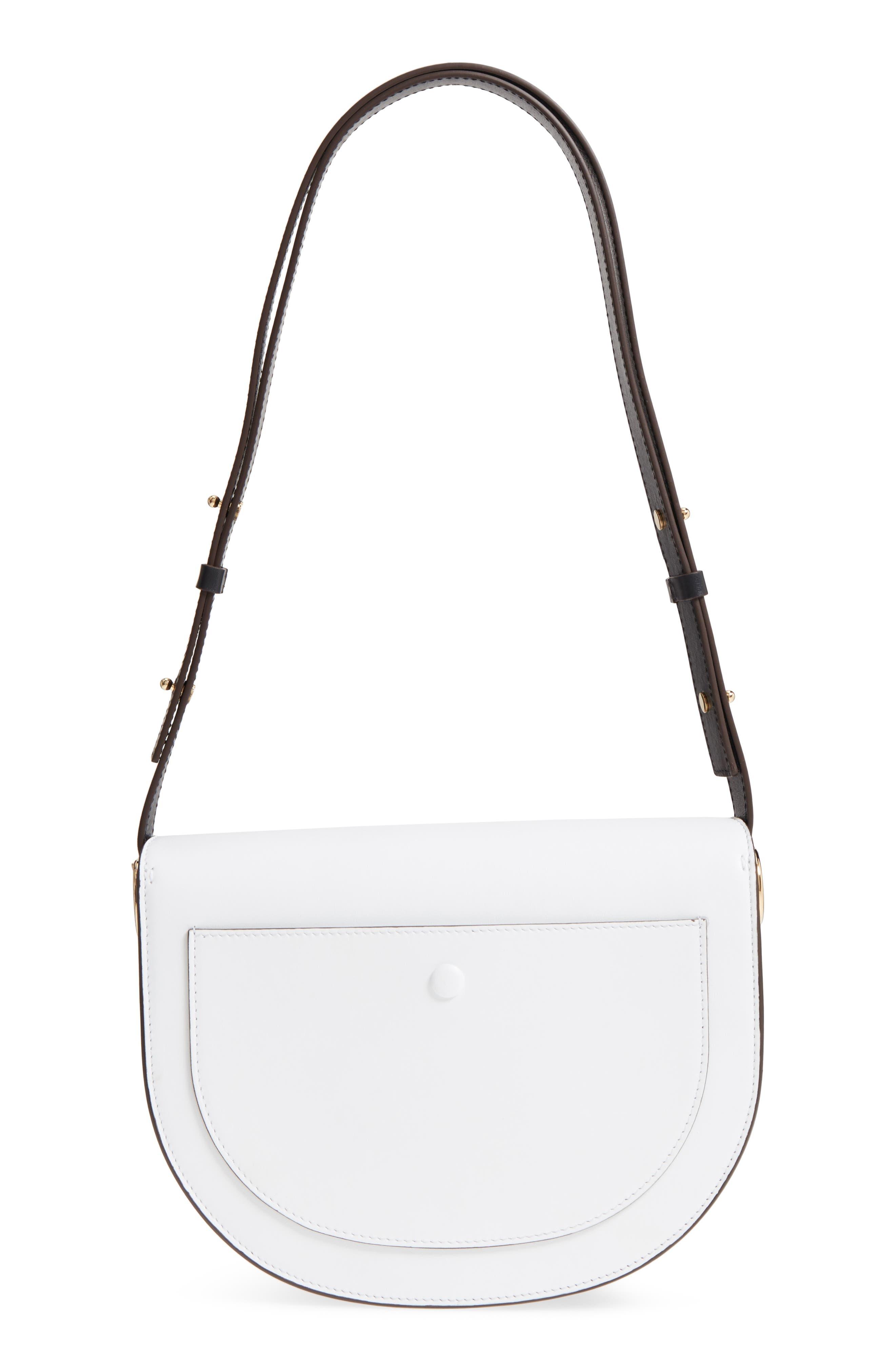 Half Moon Box Shoulder Bag,                             Alternate thumbnail 3, color,                             White/ Ambra/ Black
