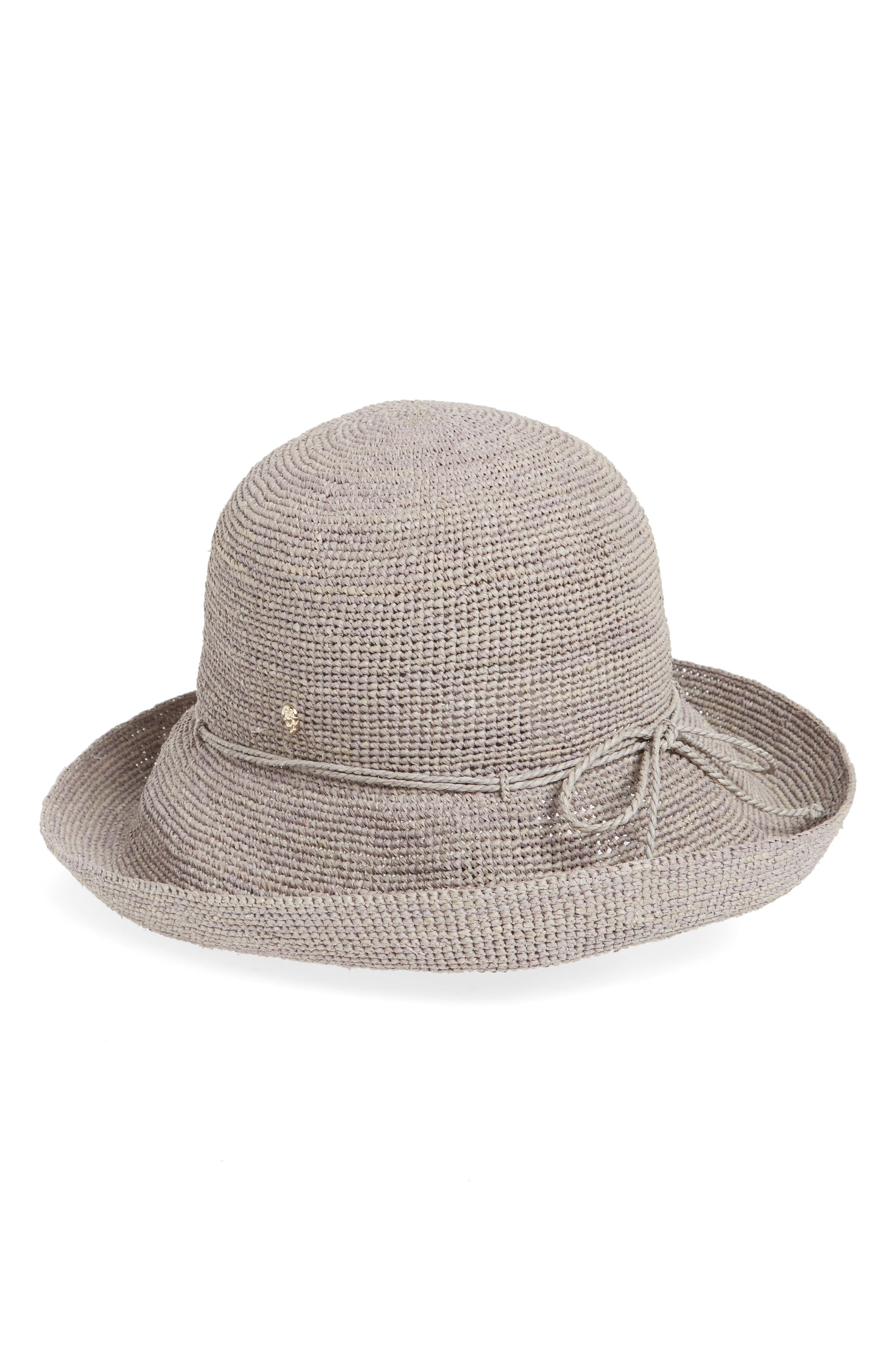 'Provence 10' Packable Raffia Hat,                             Main thumbnail 1, color,                             Eclipse Melange
