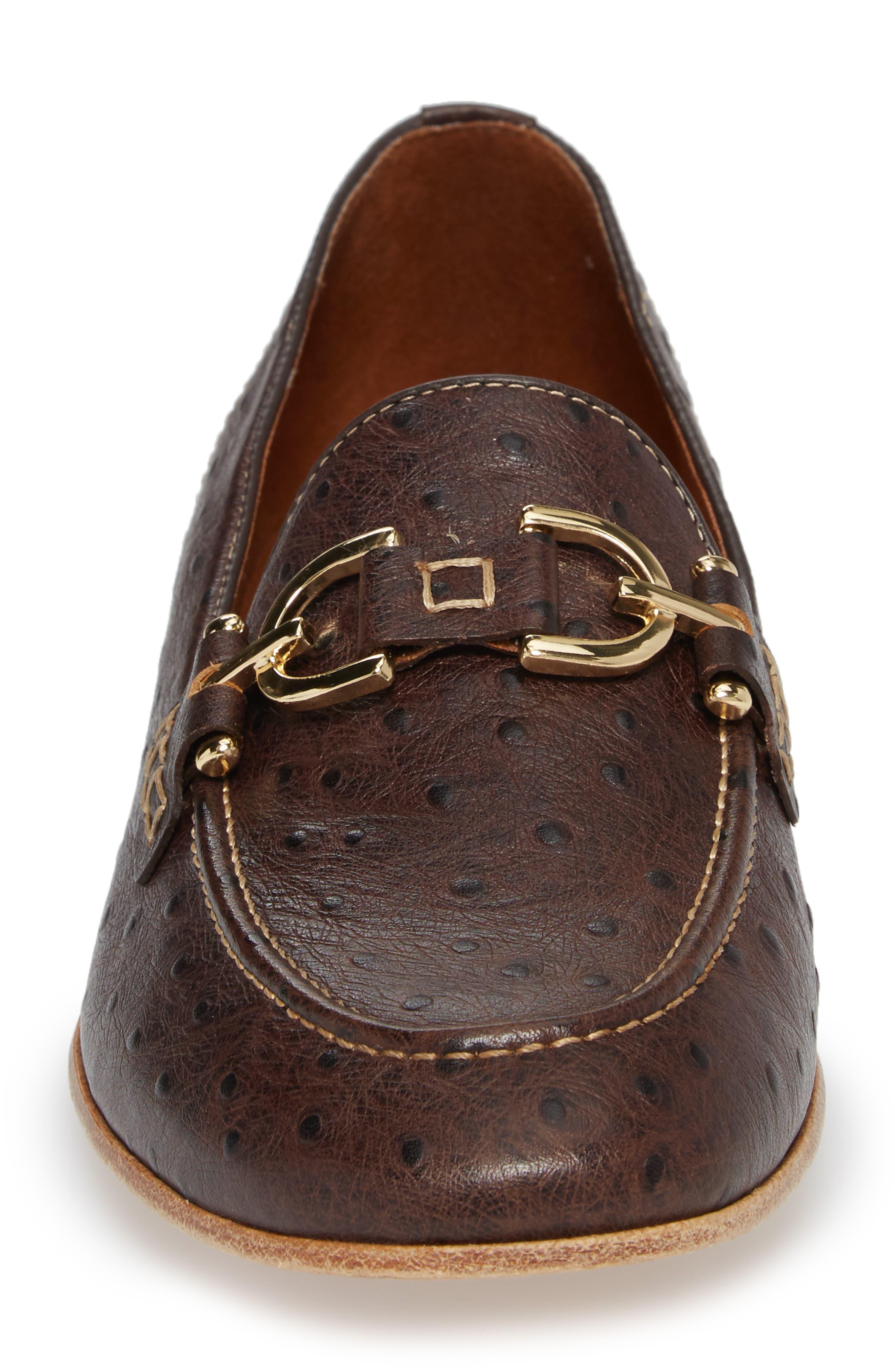 Moritz Apron Toe Bit Loafer,                             Alternate thumbnail 4, color,                             Brown Leather