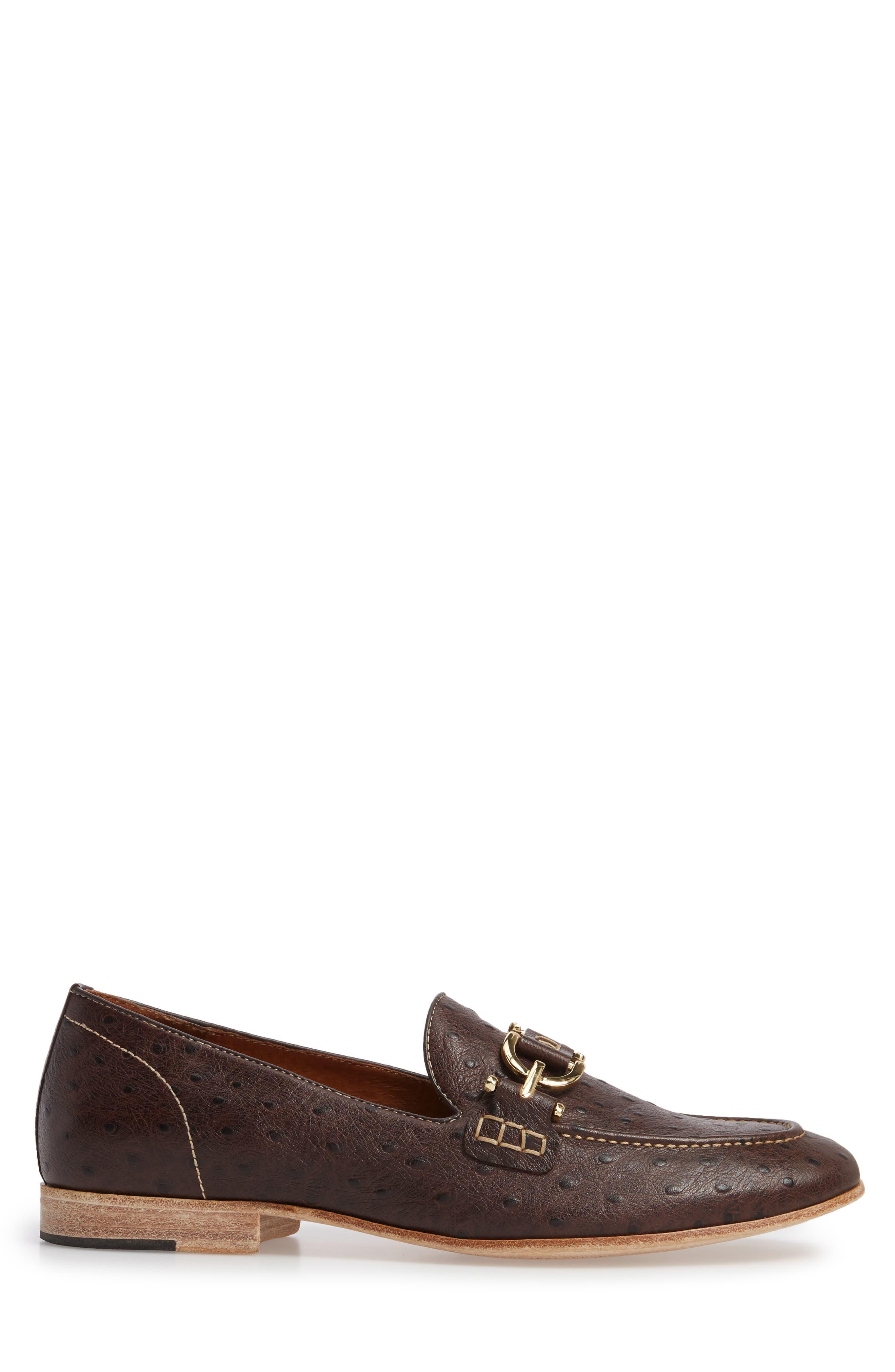 Moritz Apron Toe Bit Loafer,                             Alternate thumbnail 3, color,                             Brown Leather