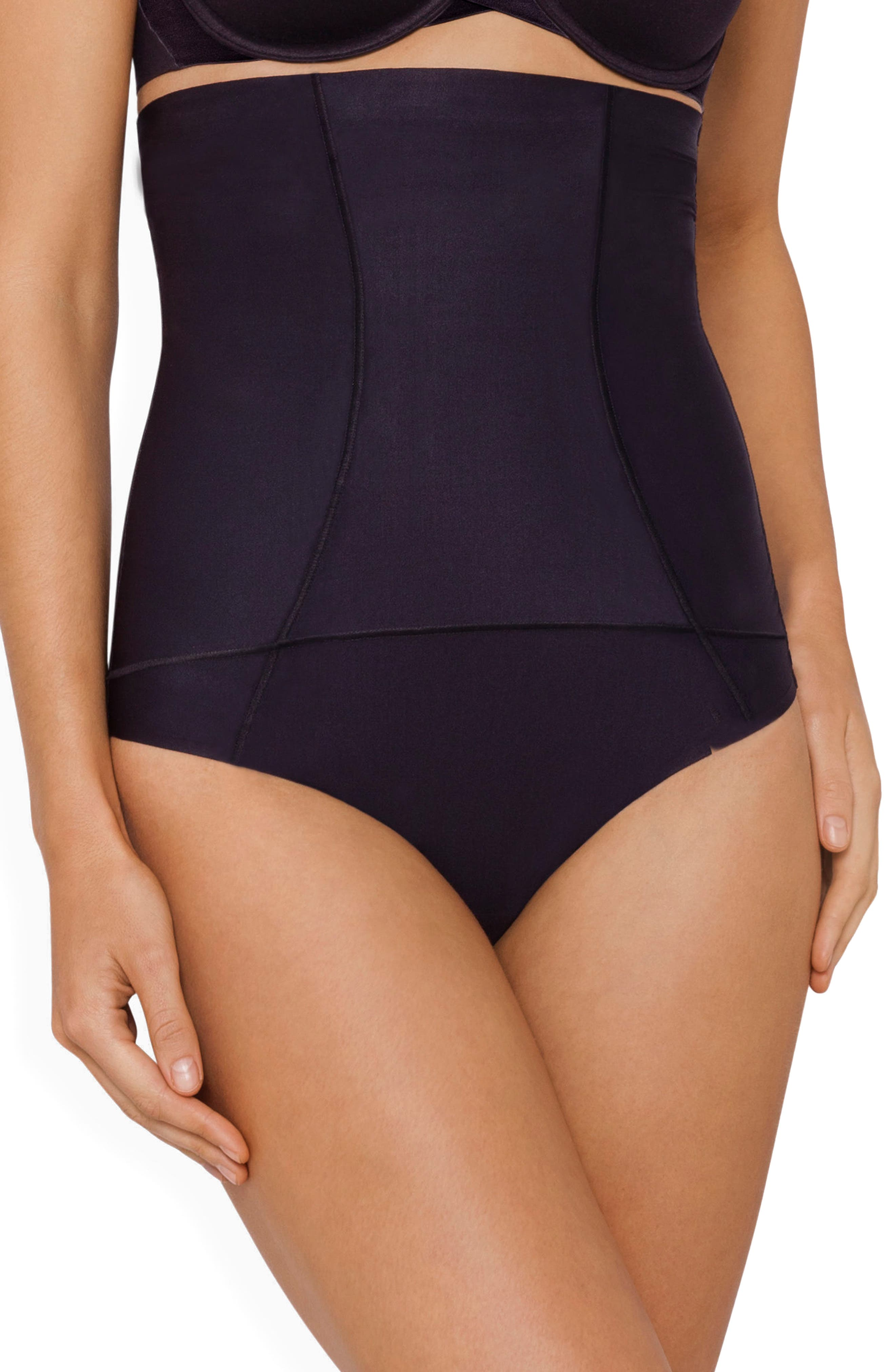 Body Architect High Waist Shaper Thong,                         Main,                         color, Black
