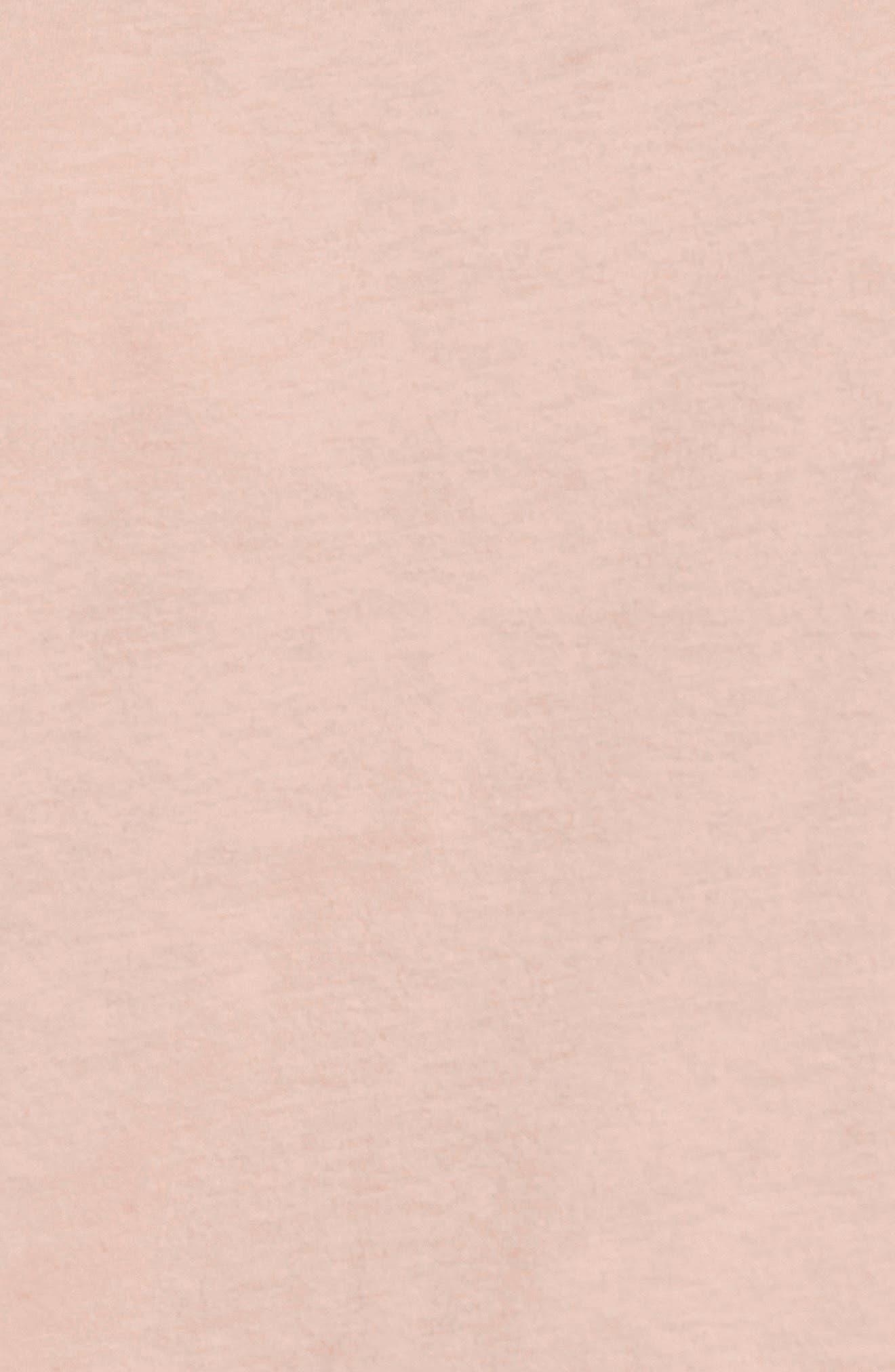 Varsity Stripe Cotton Tee,                             Alternate thumbnail 5, color,                             Pink Combo