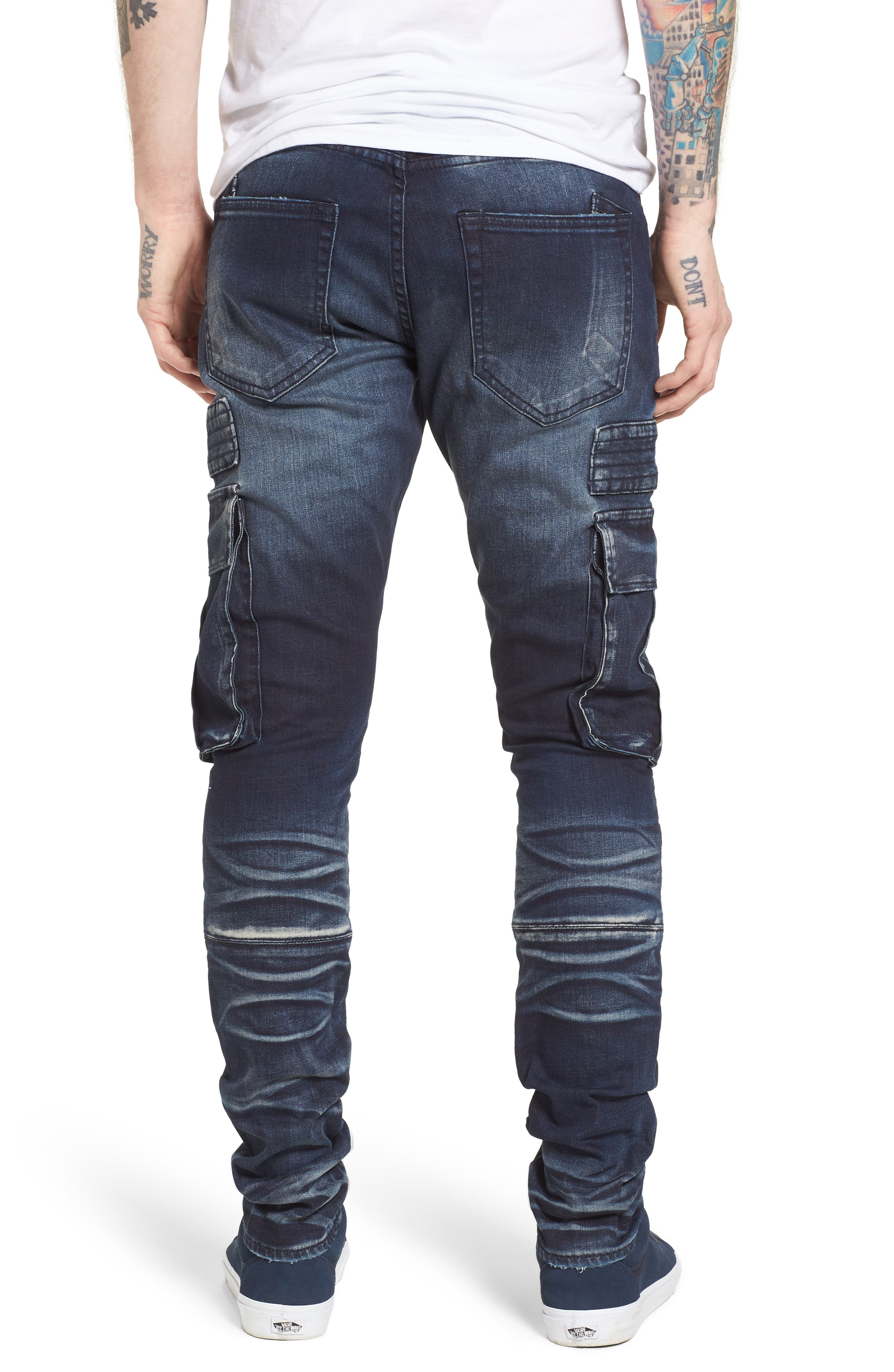 Windsor Slim Fit Moto Cargo Jeans,                             Alternate thumbnail 2, color,                             Altar