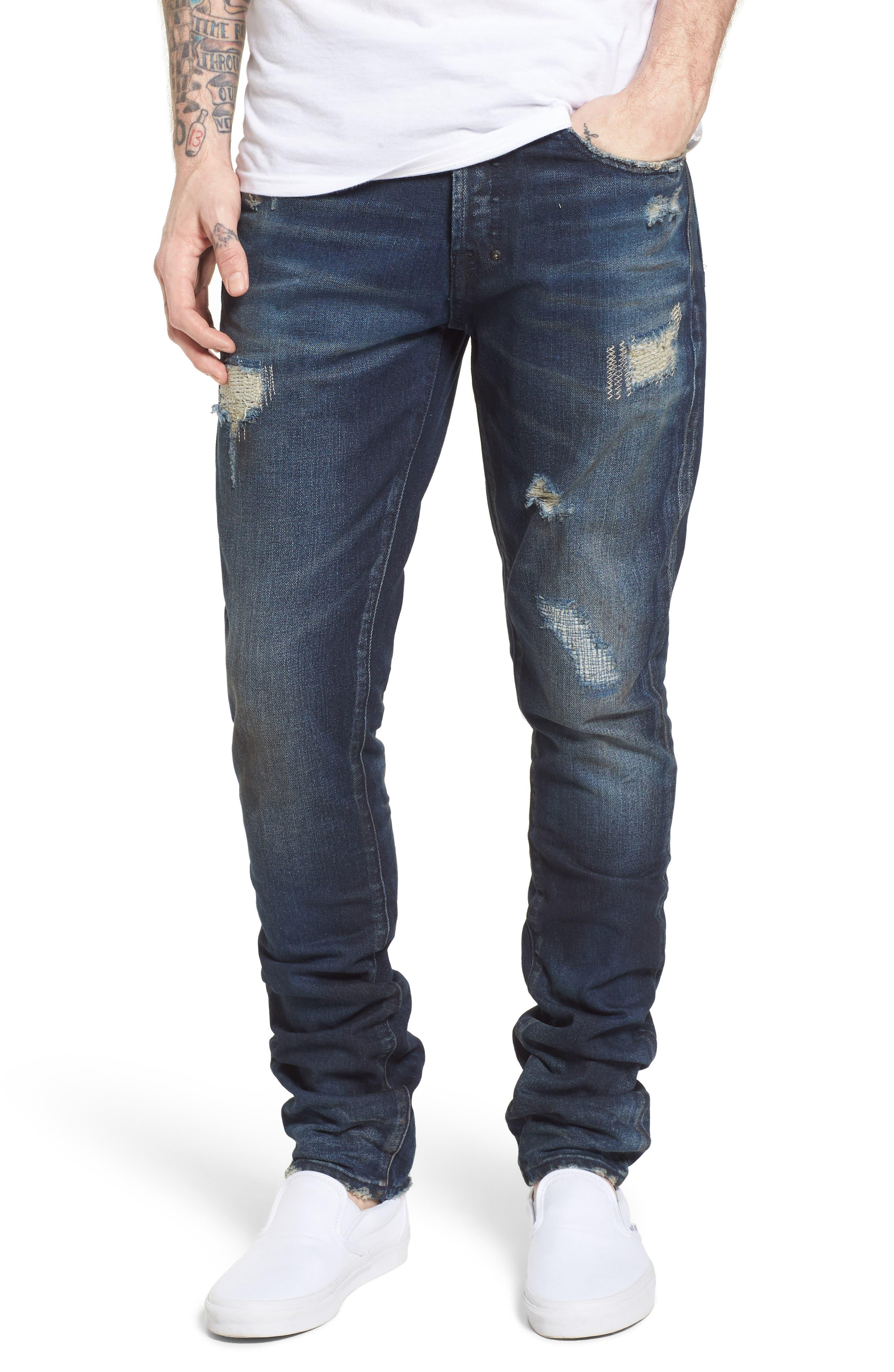Denim Slim Straight Leg Jeans,                             Main thumbnail 1, color,                             Impact