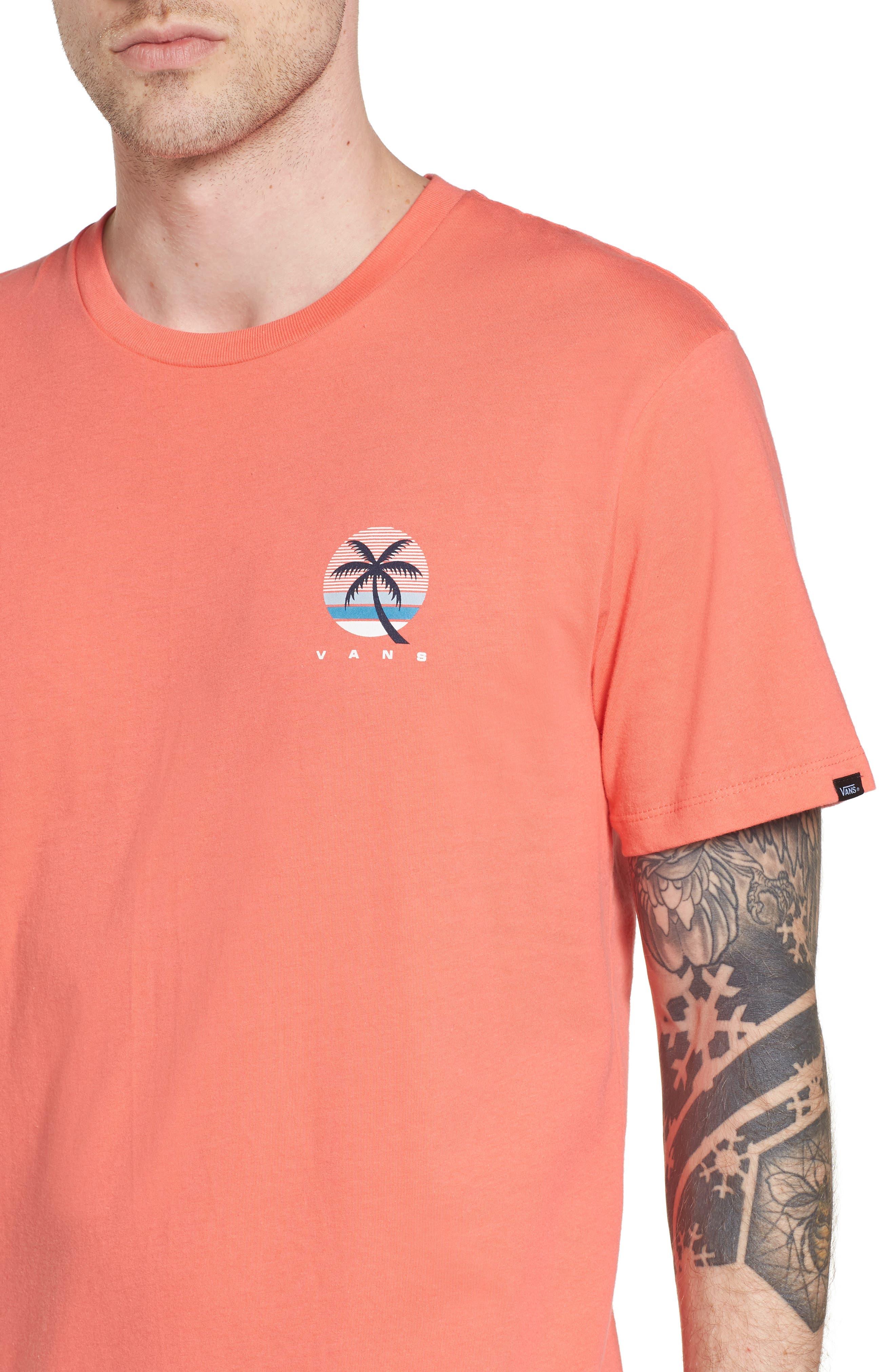 Tall Palms Graphic T-Shirt,                             Alternate thumbnail 4, color,                             Dubarry