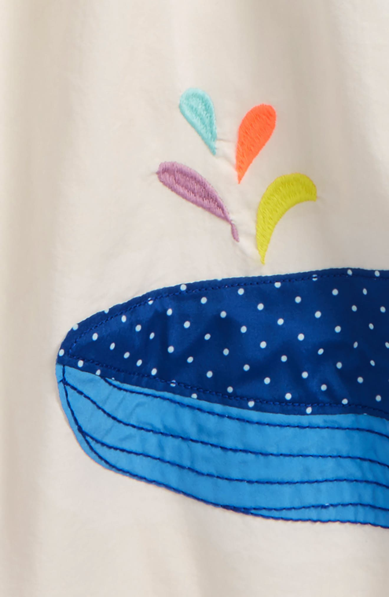 Alternate Image 2  - Mini Boden Whale Appliqué Kaftan (Toddler Girls, Little Girls & Big Girls)