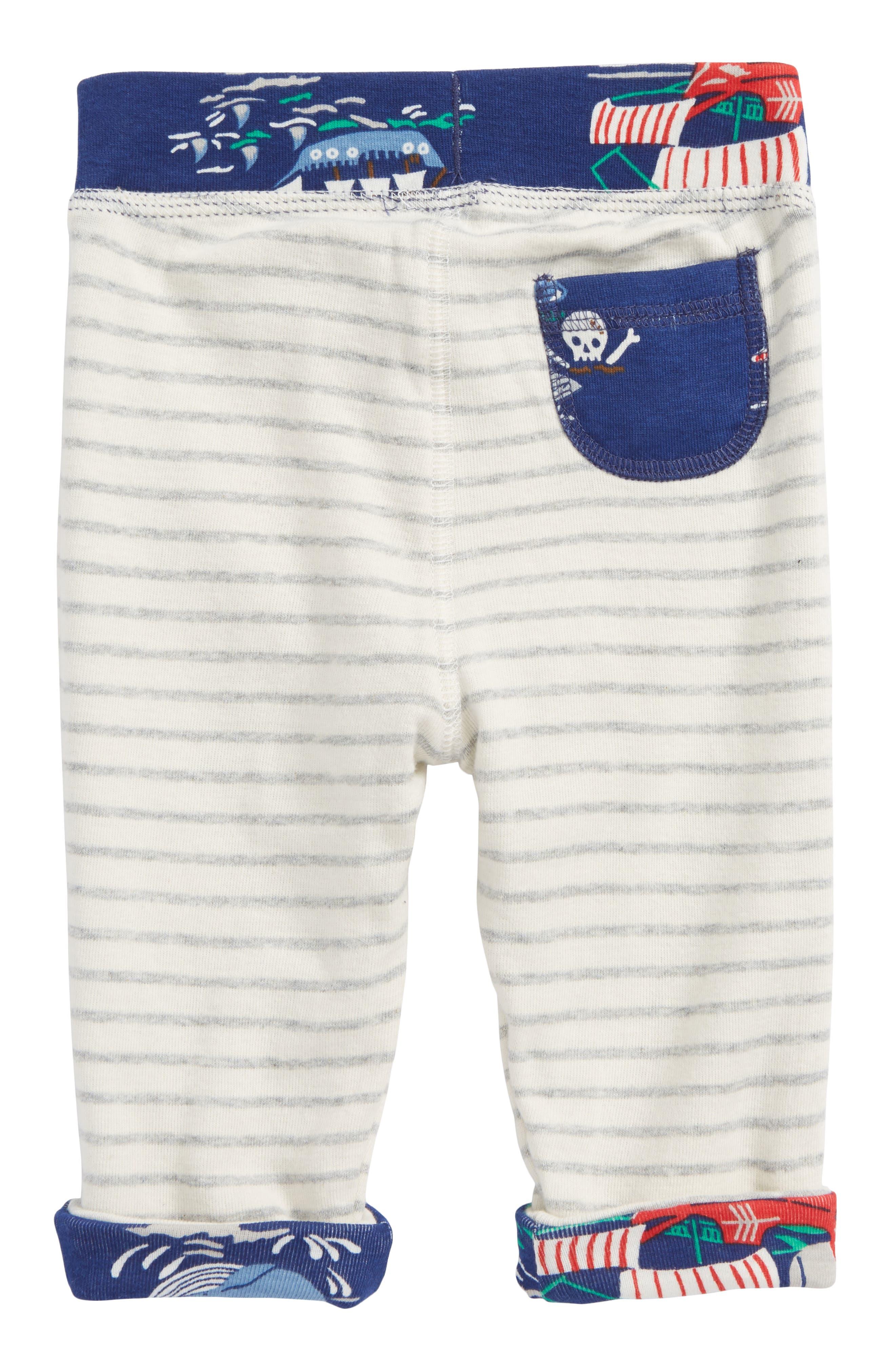Reversible Knee Patch Pants,                             Alternate thumbnail 3, color,                             Beacon Blue/ Pirate Ship