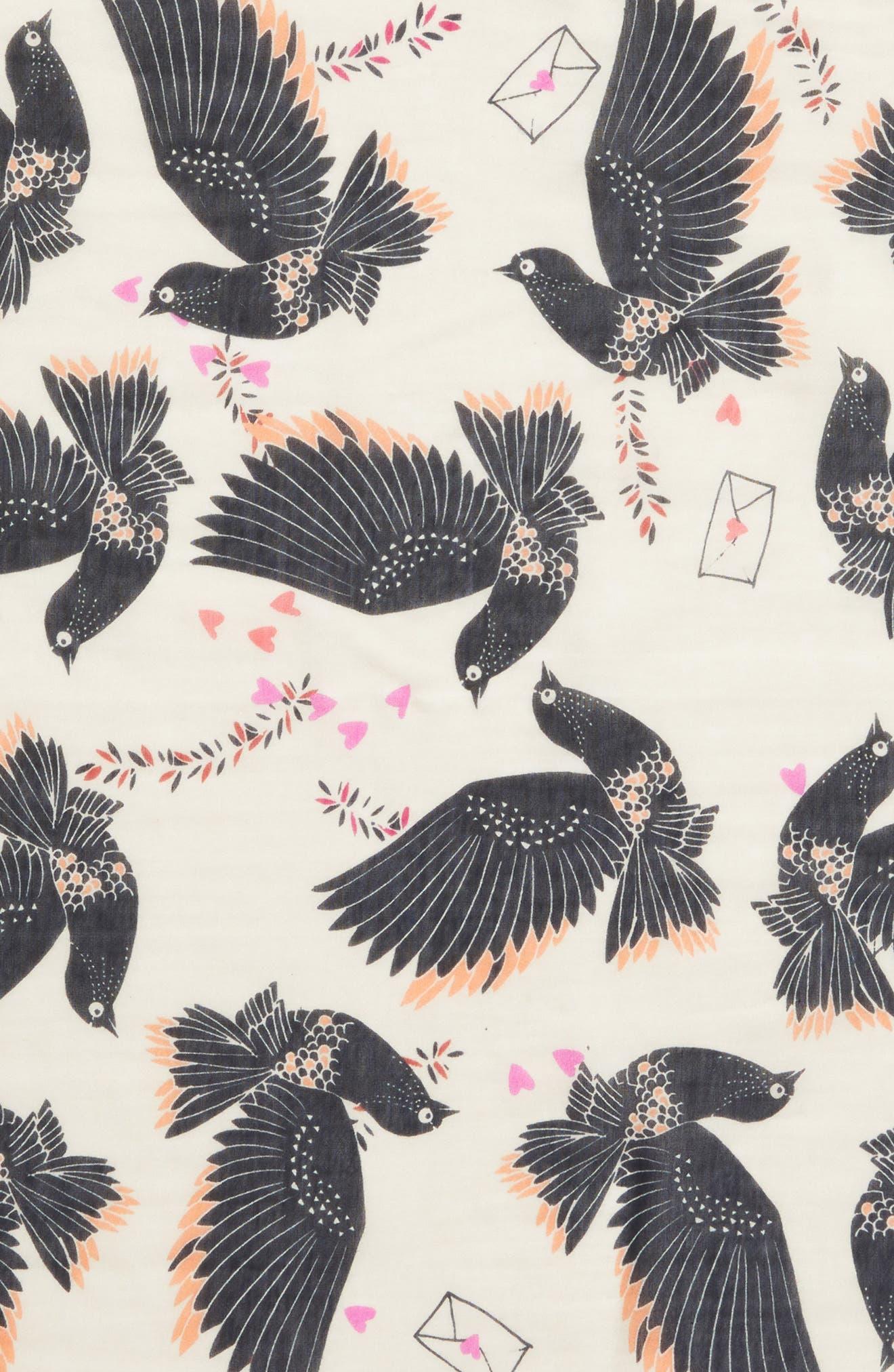 Love Doves Tassel Bandana,                             Alternate thumbnail 4, color,                             Whisper Pink