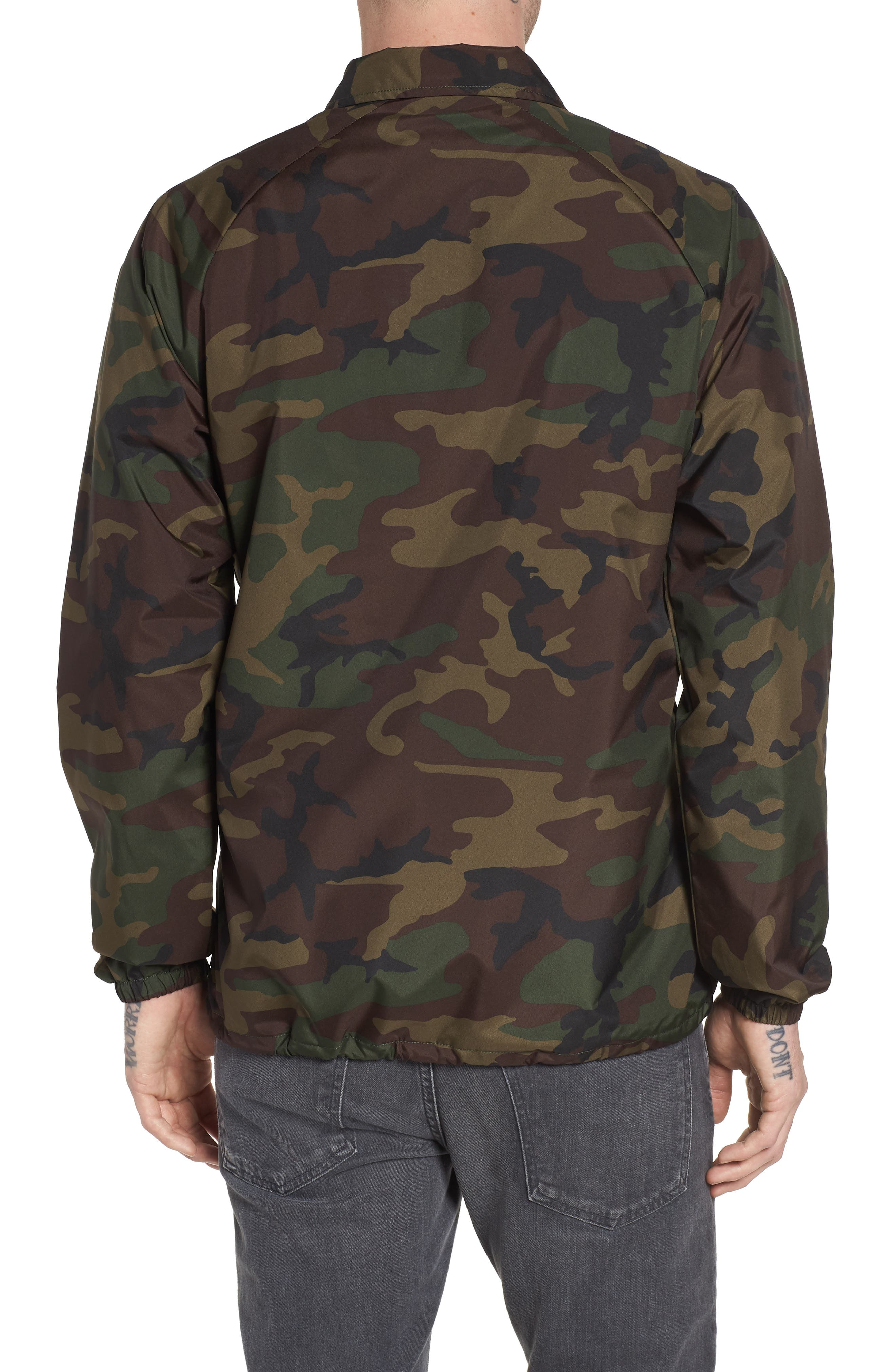 Torrey Water Resistant Coach's Jacket,                             Alternate thumbnail 2, color,                             Camo