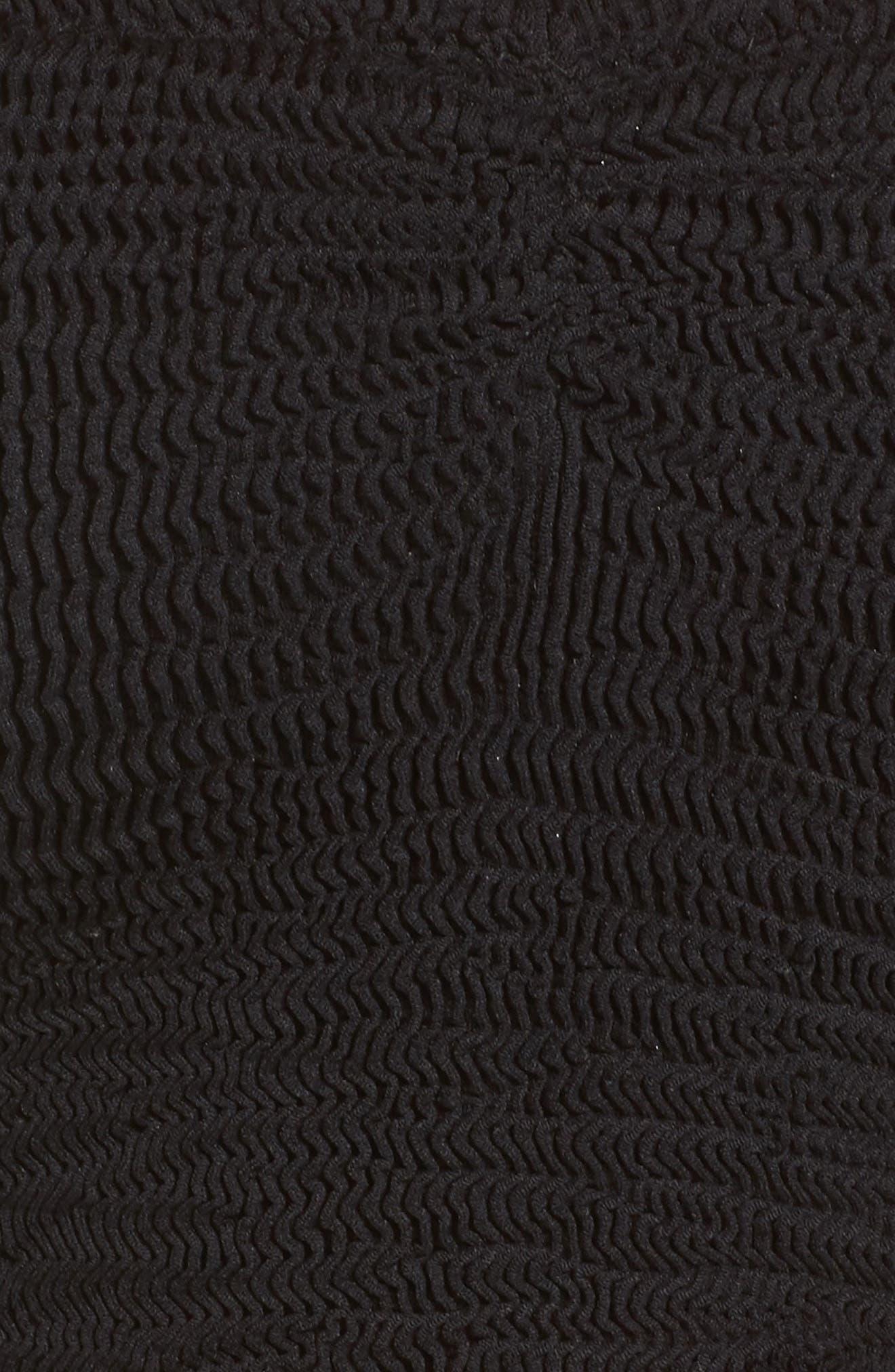 Tubular Bikini Top,                             Alternate thumbnail 5, color,                             Black