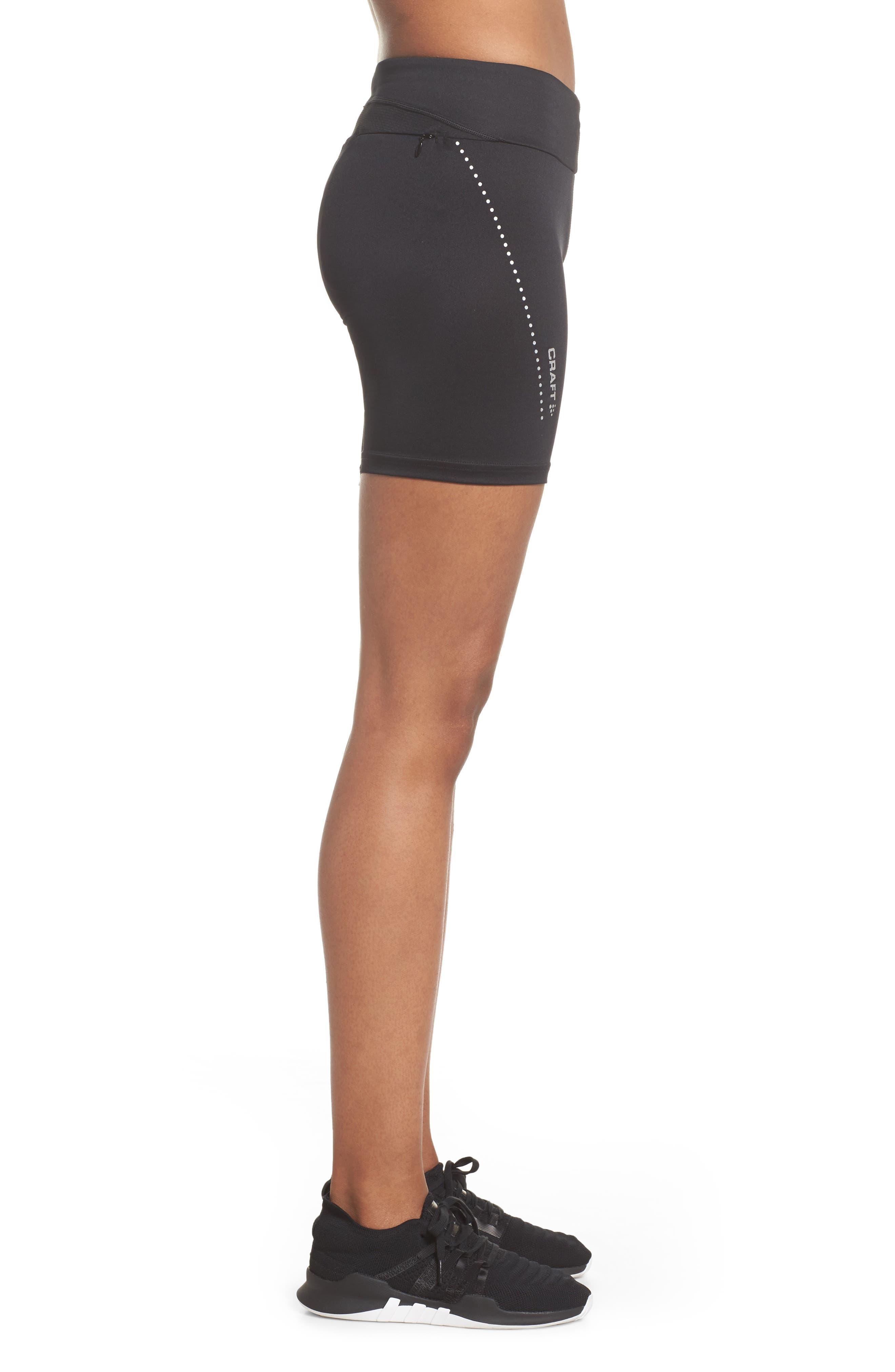 Essential Shorts,                             Alternate thumbnail 6, color,                             Black