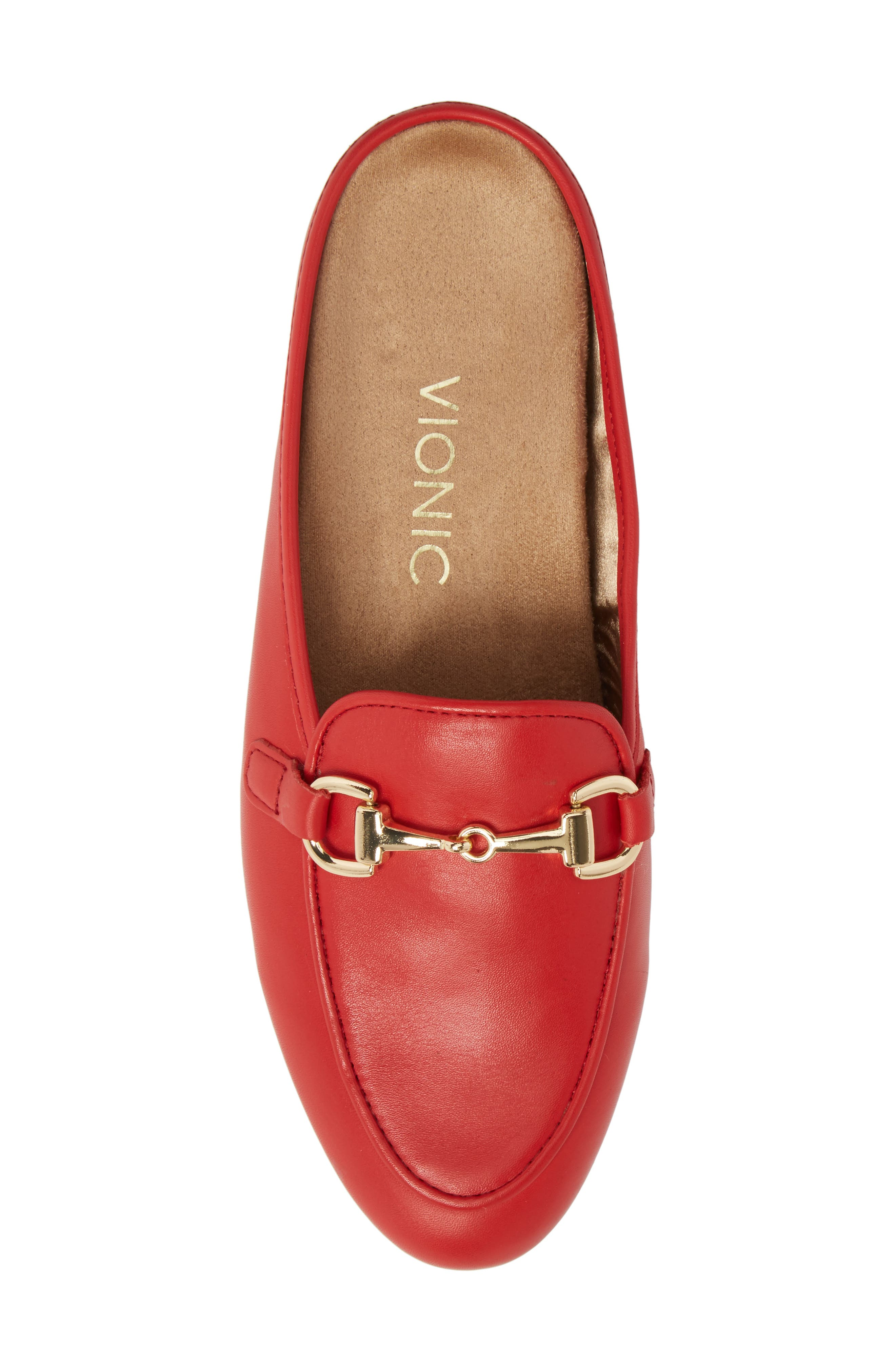 Adeline Mule,                             Alternate thumbnail 5, color,                             Red Leather