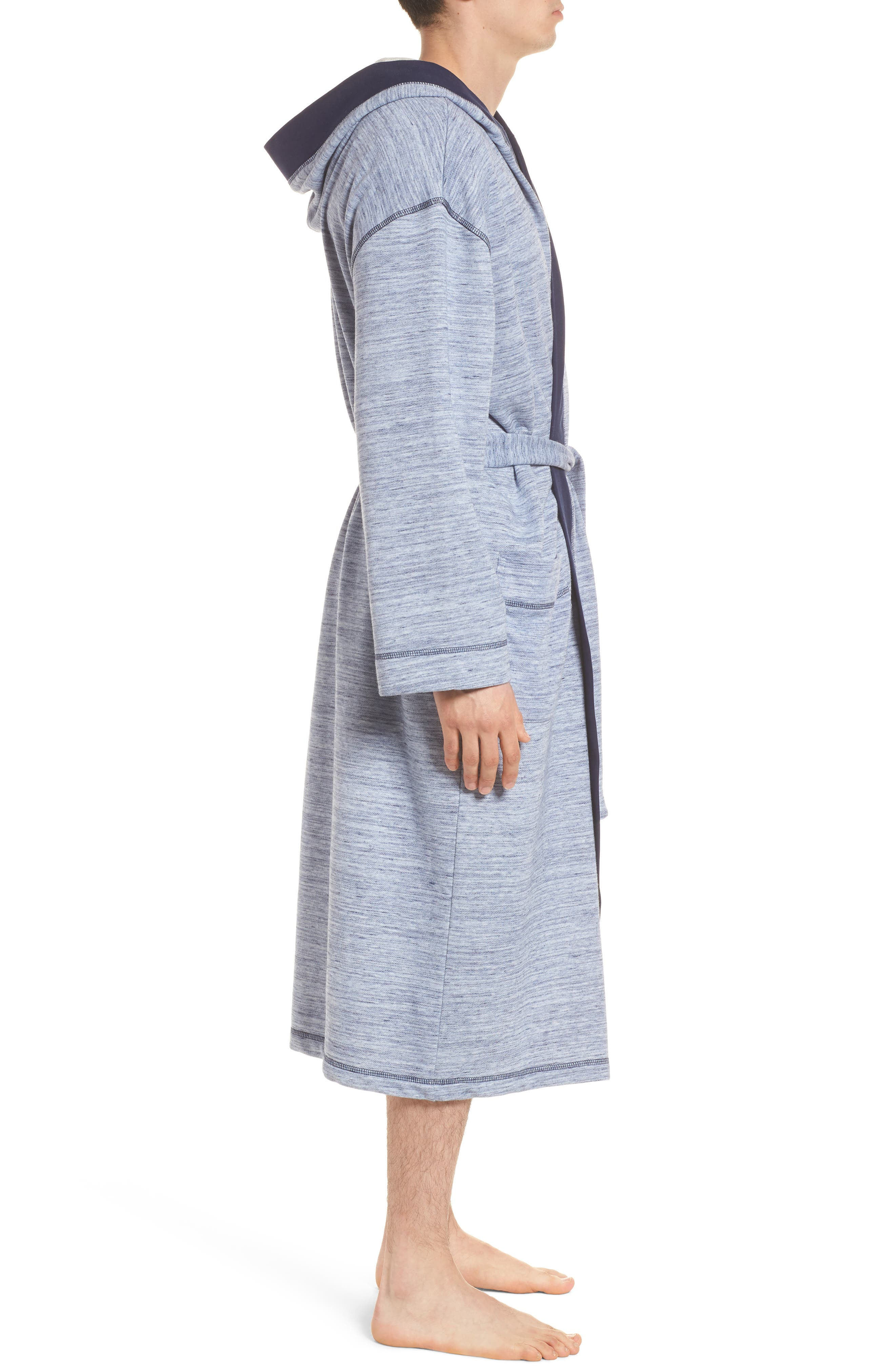 Swept In Waves Robe,                             Alternate thumbnail 3, color,                             Alfresco French Terry