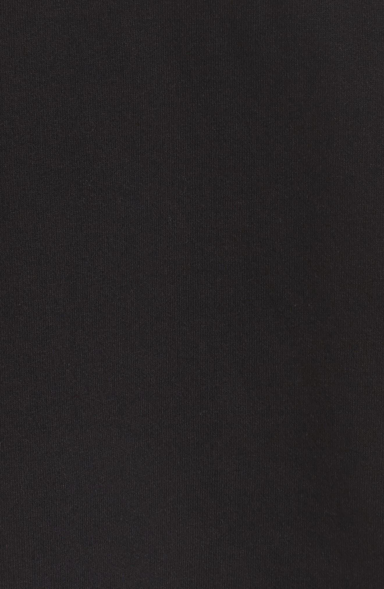 Brunette Raw Hem Sweatshirt,                             Alternate thumbnail 7, color,                             Black