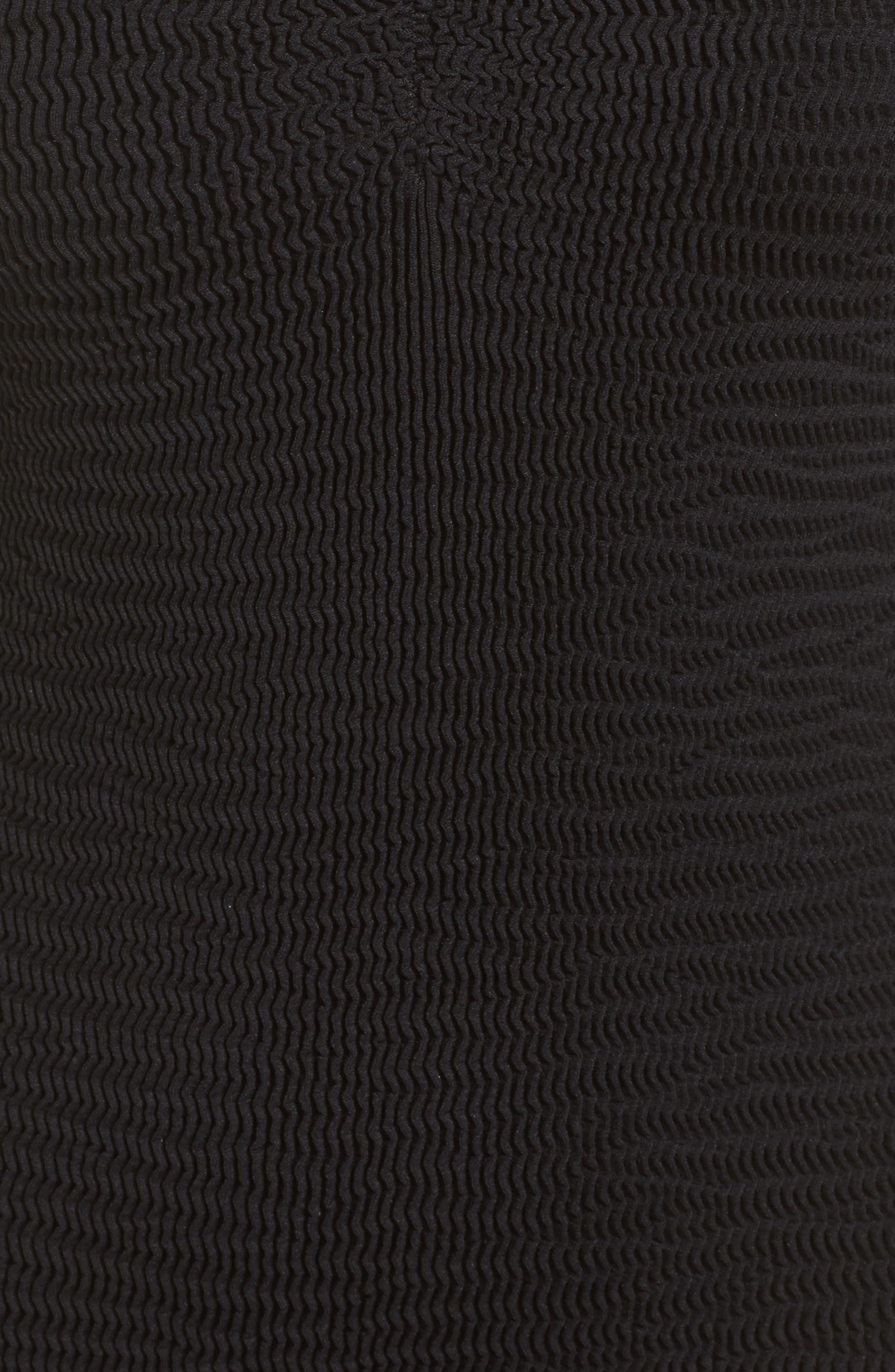Tubular One-Piece Swimsuit,                             Alternate thumbnail 5, color,                             Black