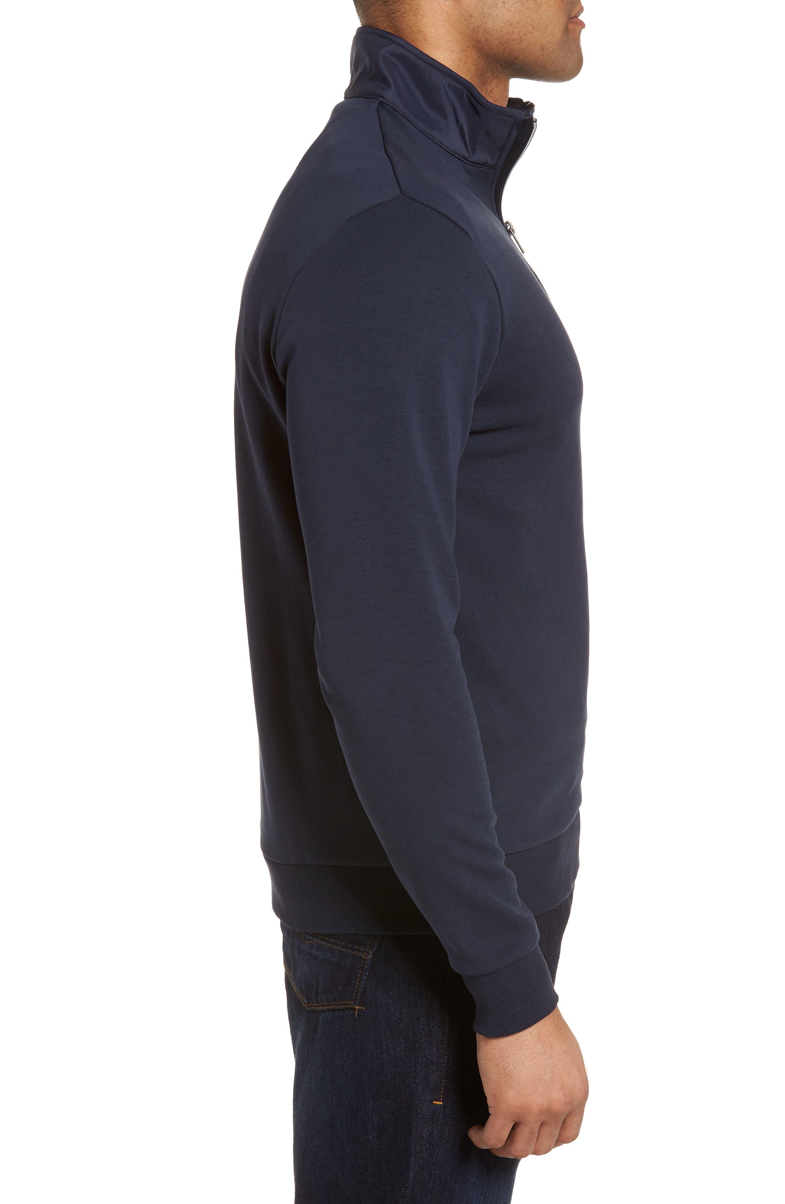 Regular Fit Quarter Zip Pullover,                             Alternate thumbnail 3, color,                             Navy