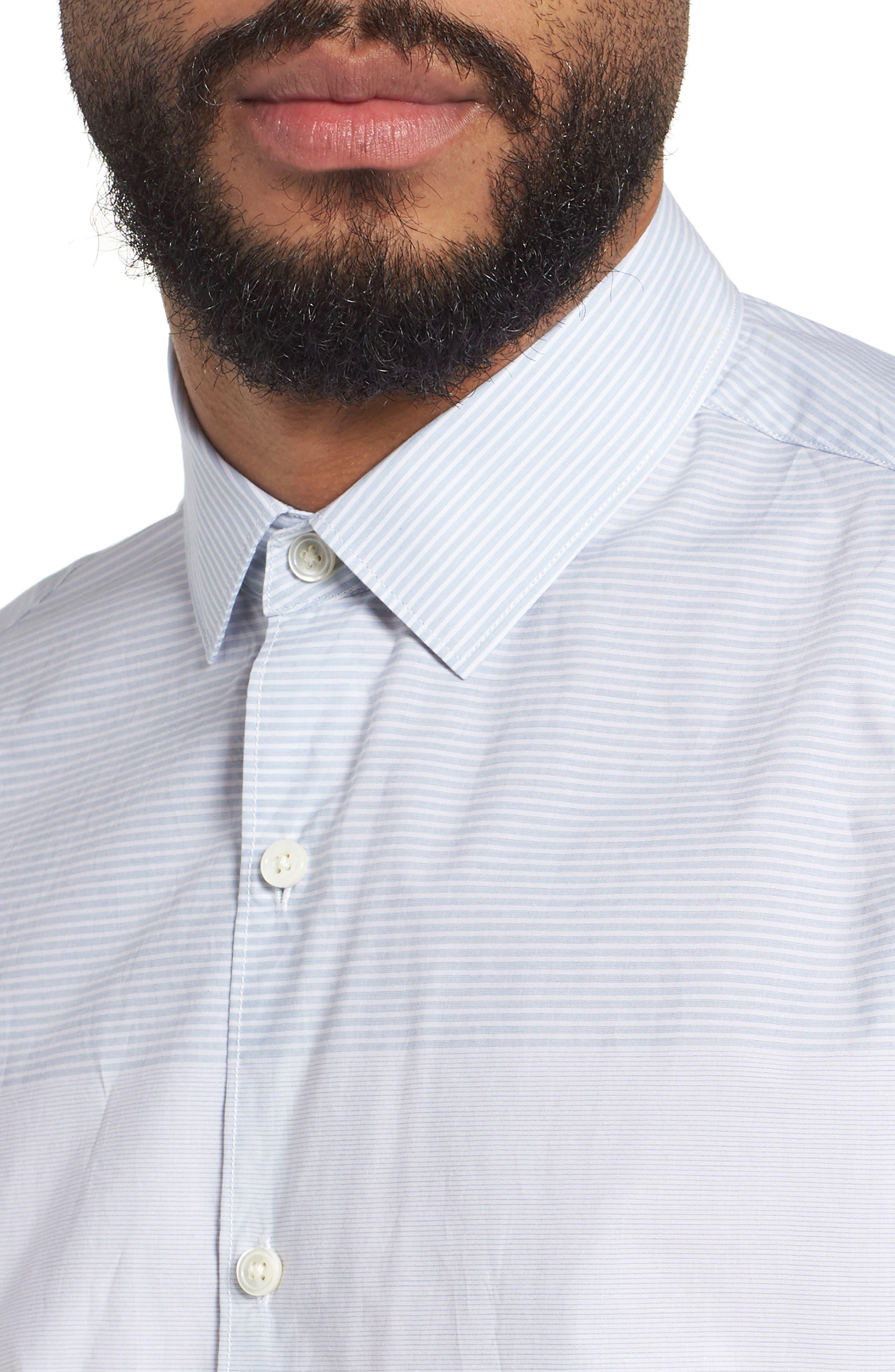 Murrary Regular Fit Stripe Short Sleeve Sport Shirt,                             Alternate thumbnail 4, color,                             Breeze Multi