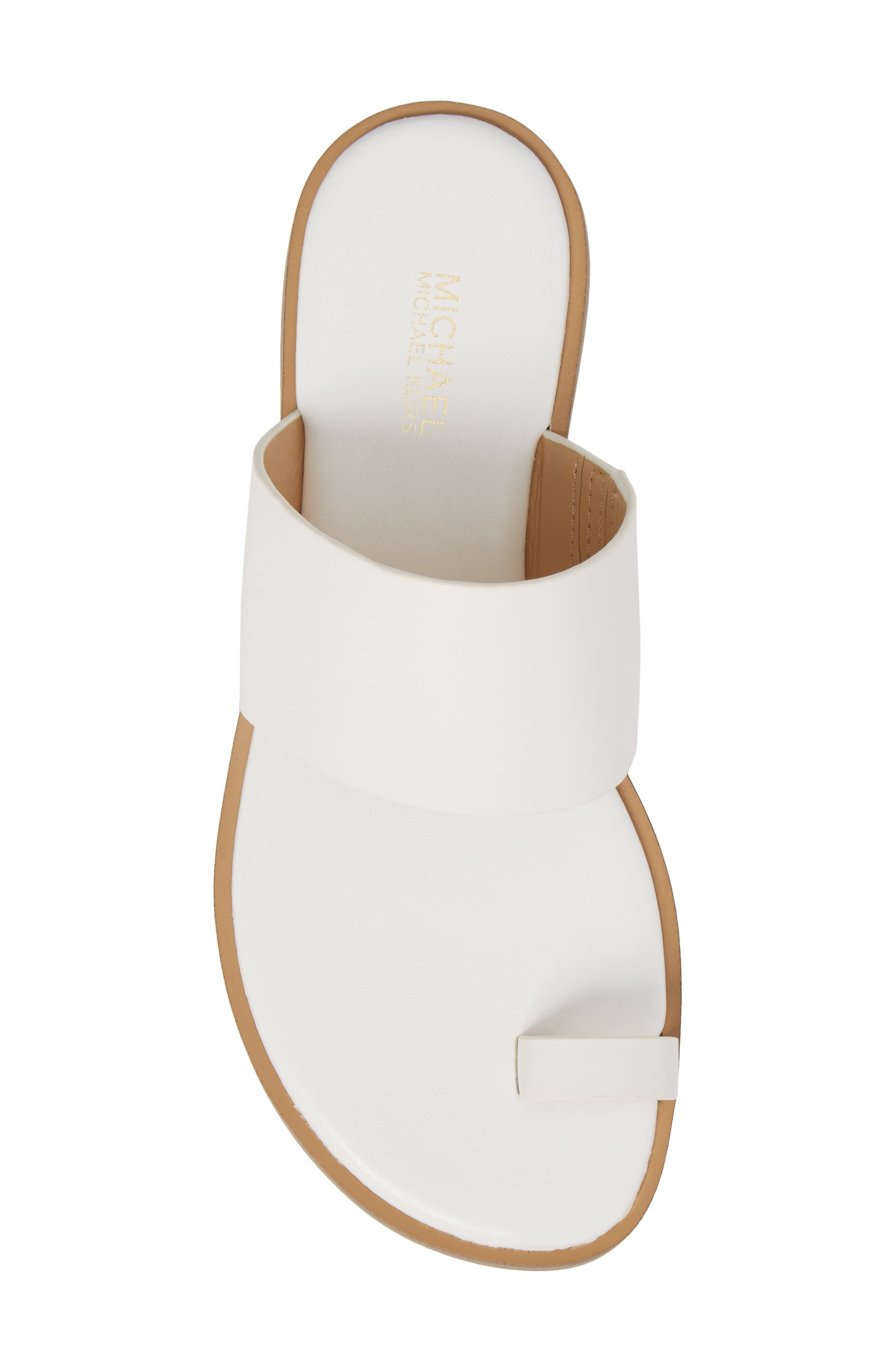 Sonya Sandal,                             Alternate thumbnail 5, color,                             Optic White Leather