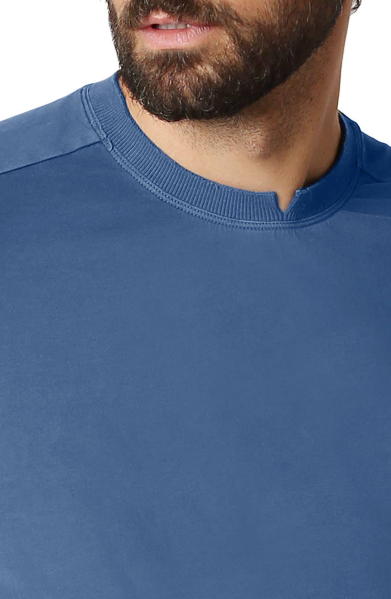 Trim Fit Slub T-Shirt,                             Alternate thumbnail 3, color,                             Denim Blue